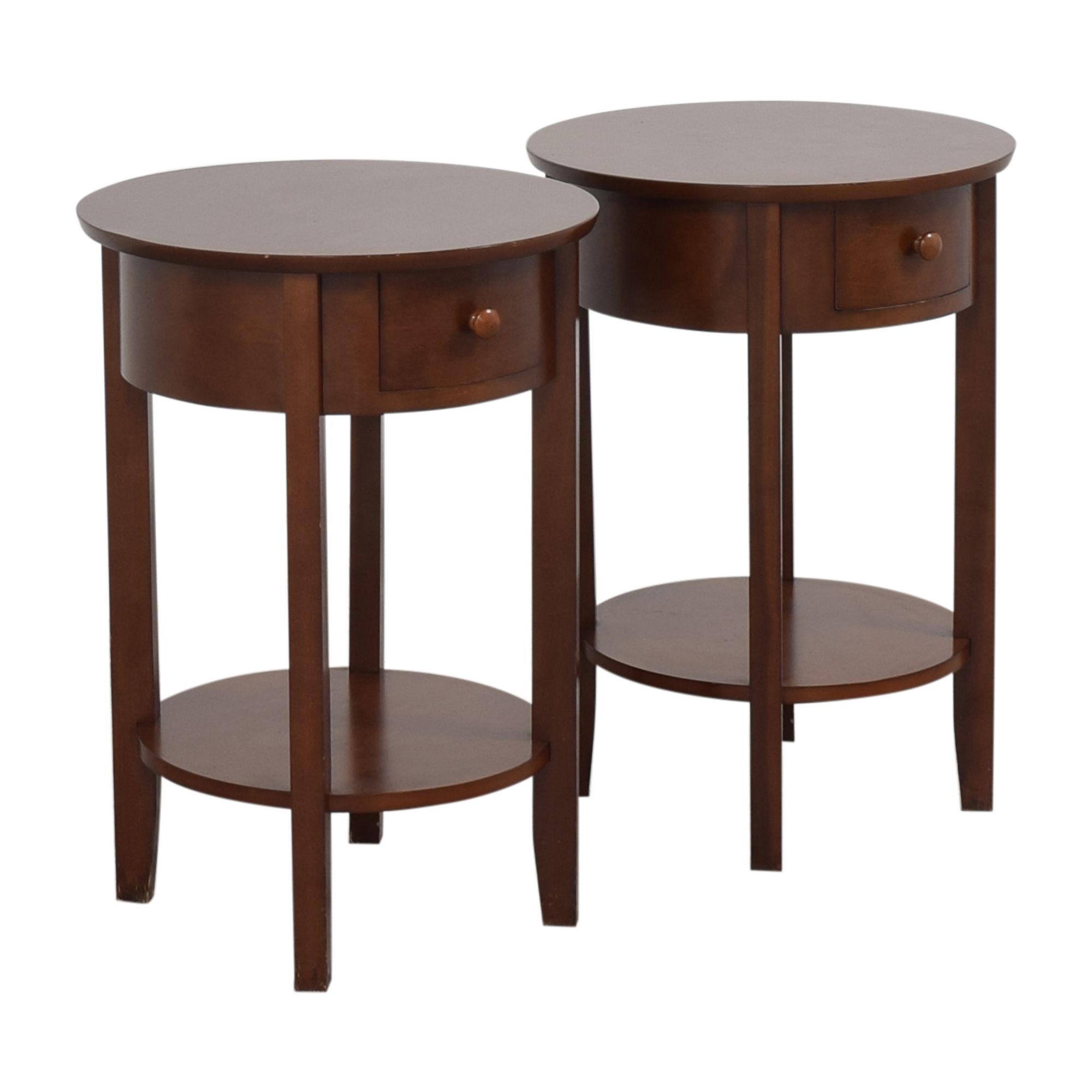 Pottery Barn Pottery Barn Round Top End Tables pa