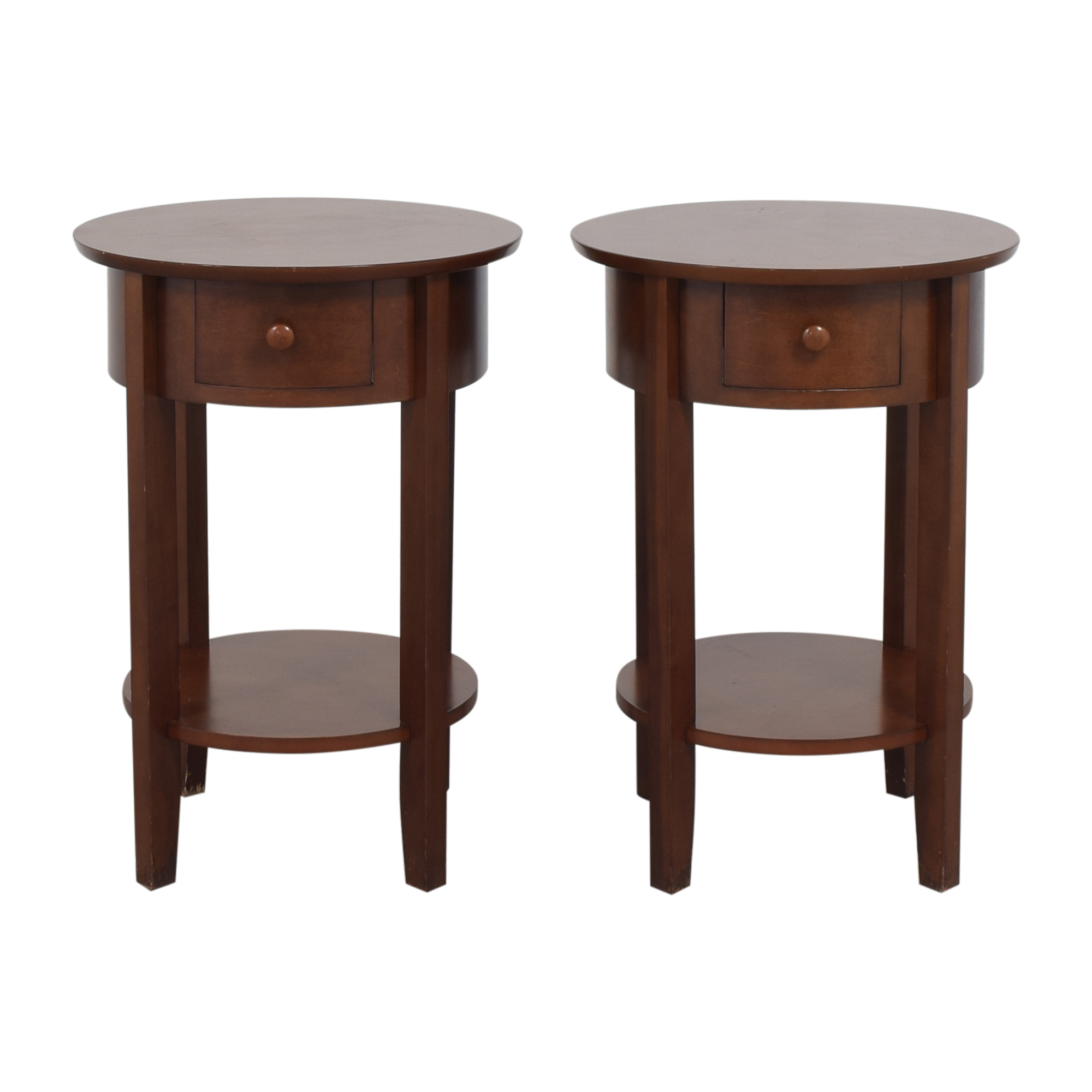 Pottery Barn Pottery Barn Round Top End Tables discount