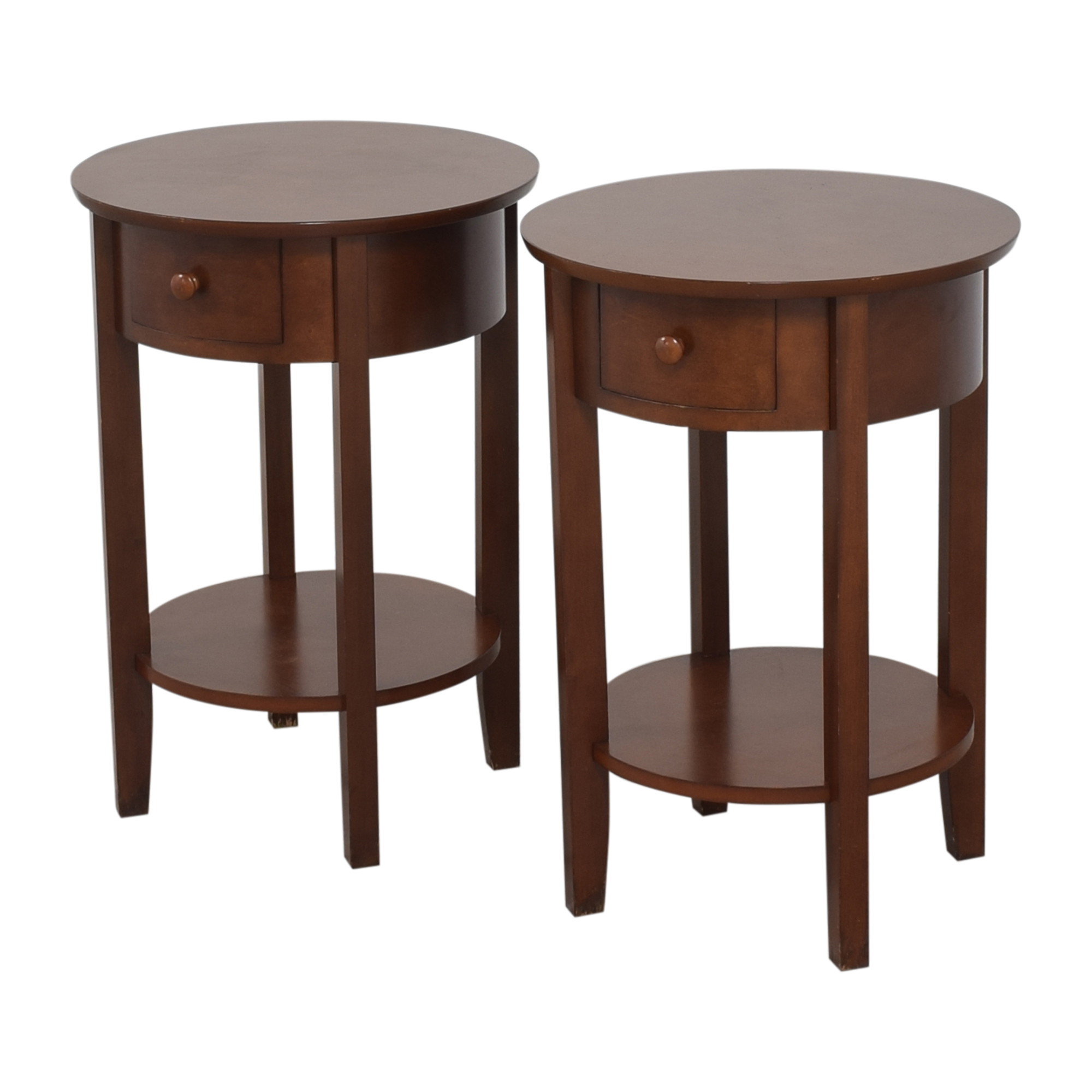 Pottery Barn Pottery Barn Round Top End Tables brown