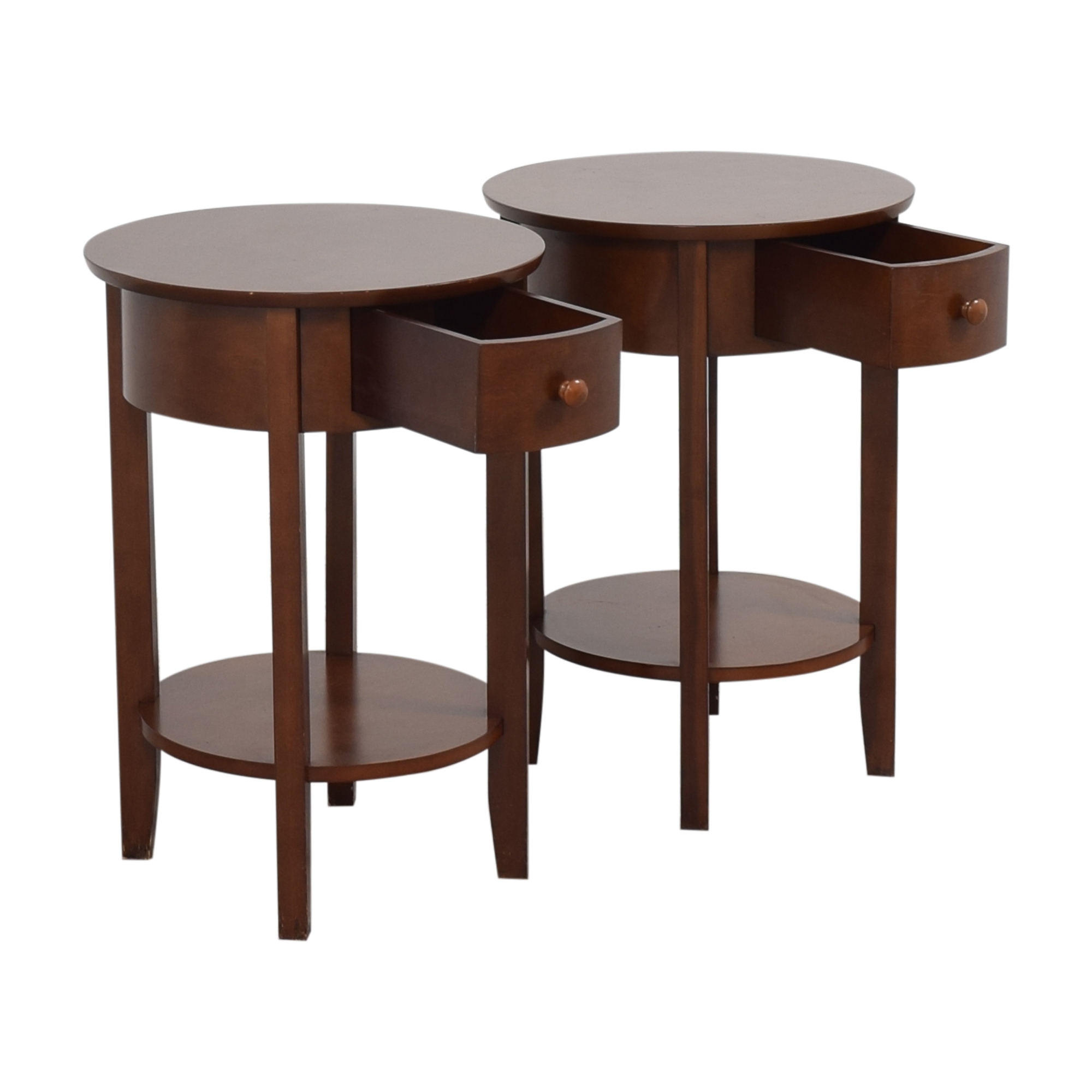 Pottery Barn Pottery Barn Round Top End Tables on sale