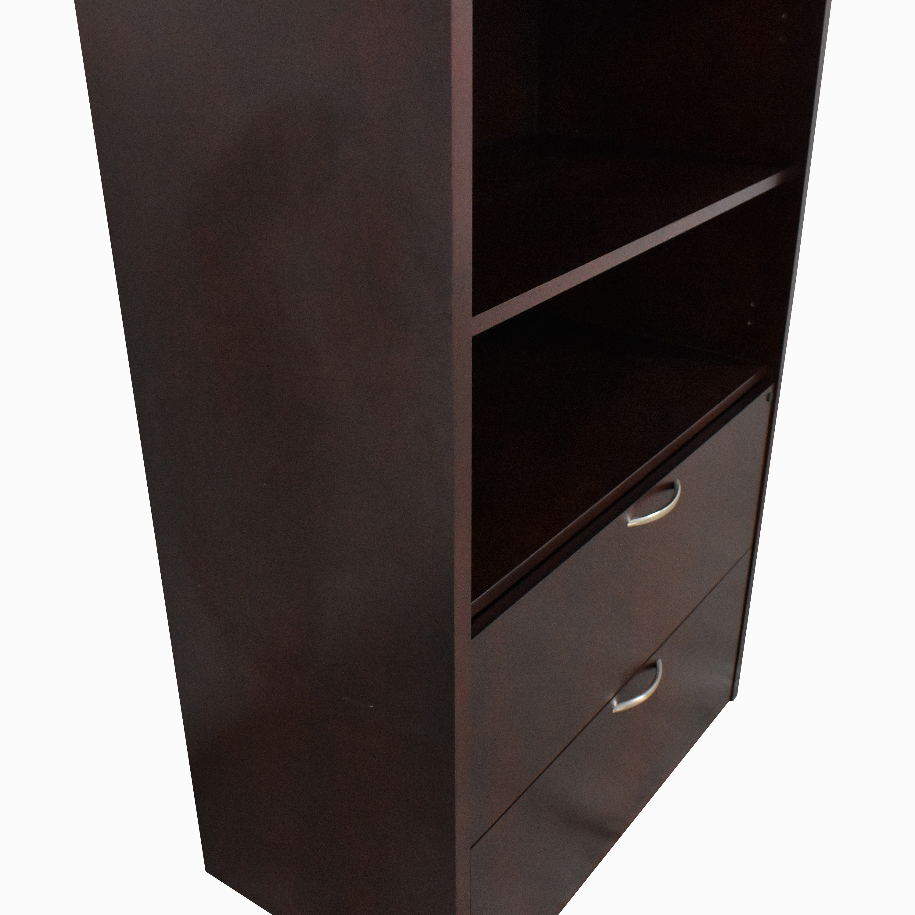 Bookcase with Two Drawer File Cabinet nj