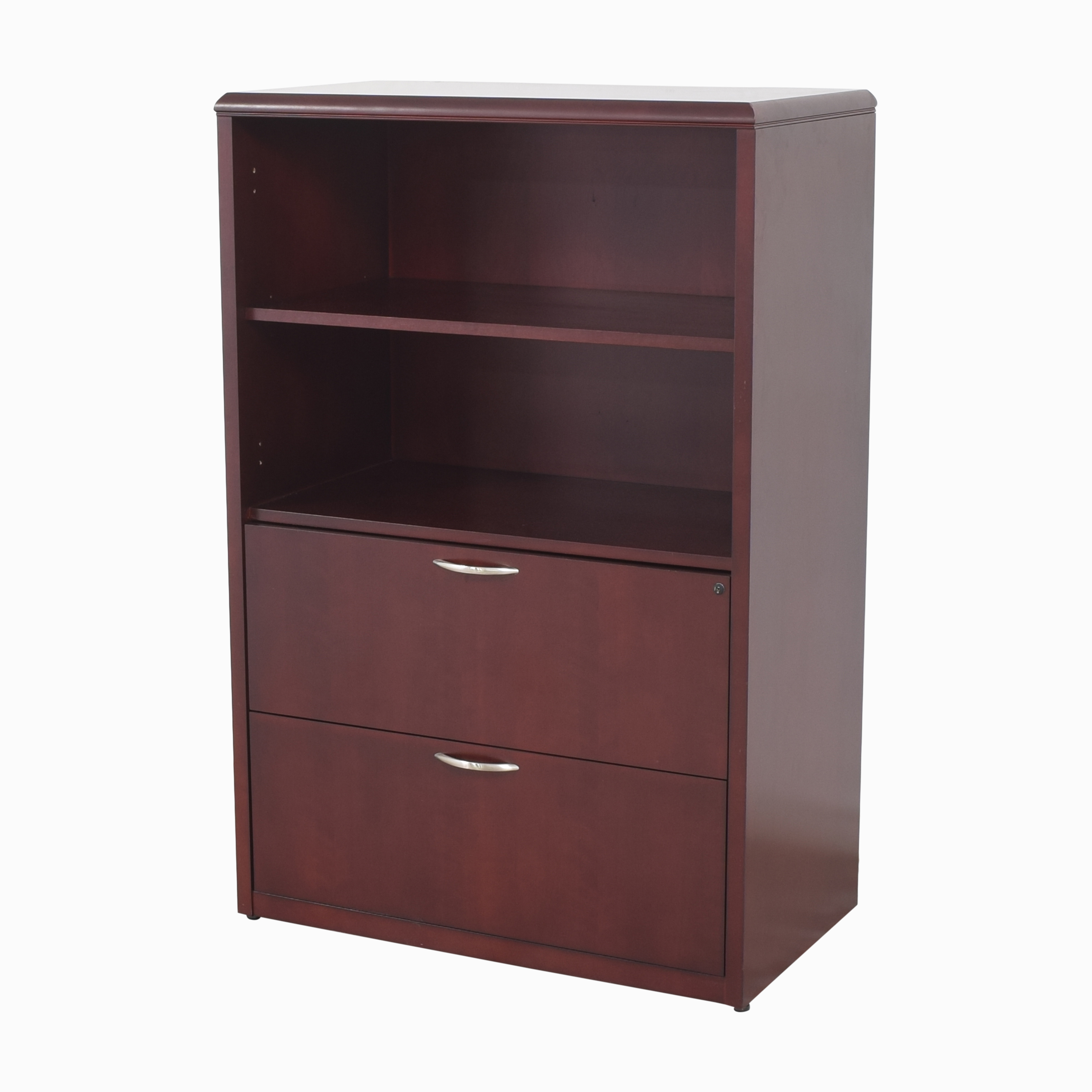 buy Bookcase with Two Drawer File Cabinet  Bookcases & Shelving