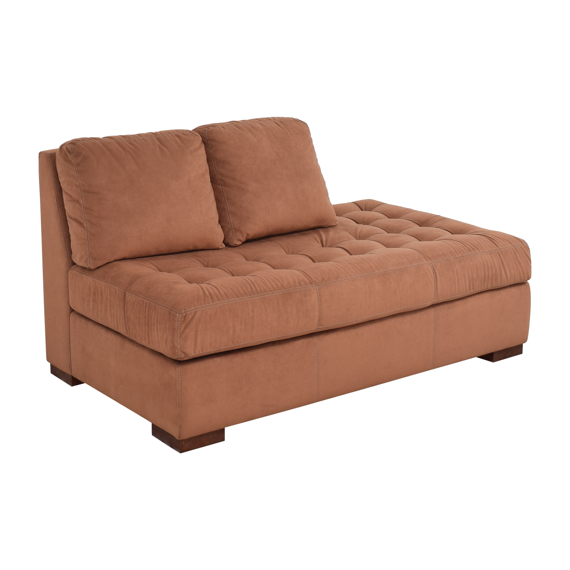 American Leather Tufted Storage Chaise / Sofas