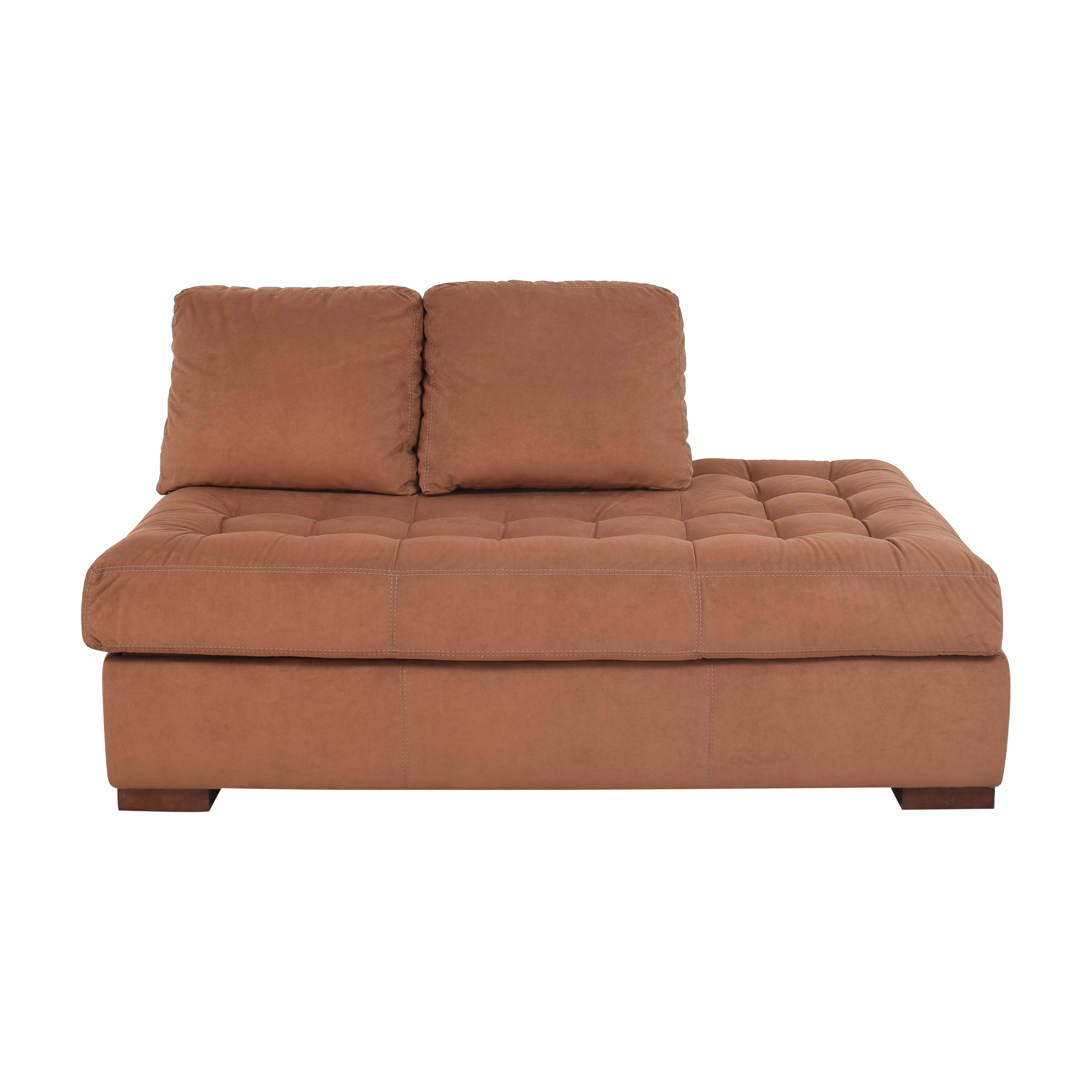 shop American Leather Tufted Storage Chaise American Leather Sofas