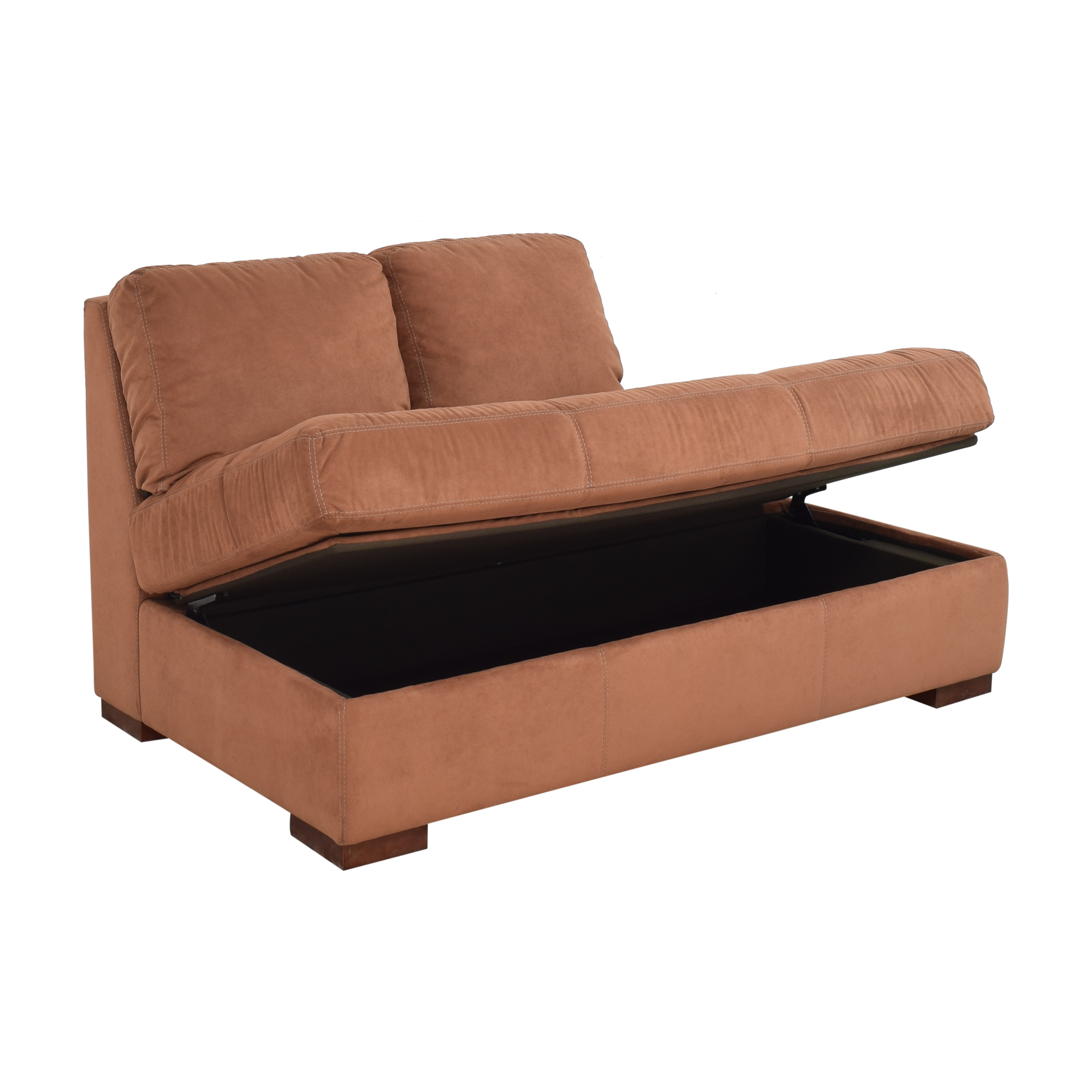 American Leather American Leather Tufted Storage Chaise ct