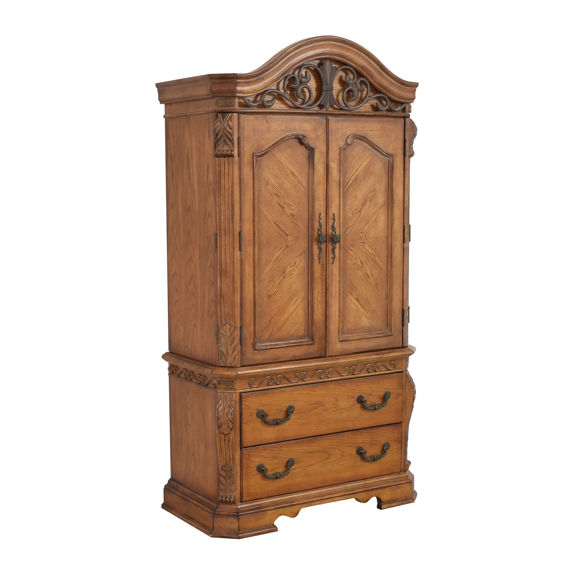 Two Drawer Media Armoire for sale