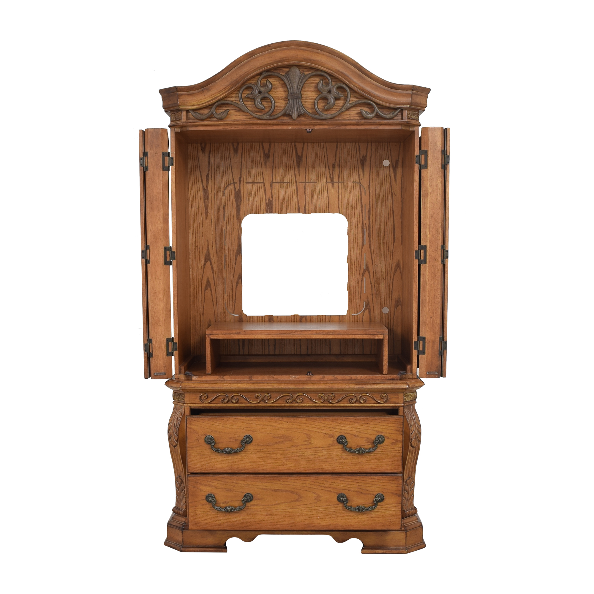 Two Drawer Media Armoire ct