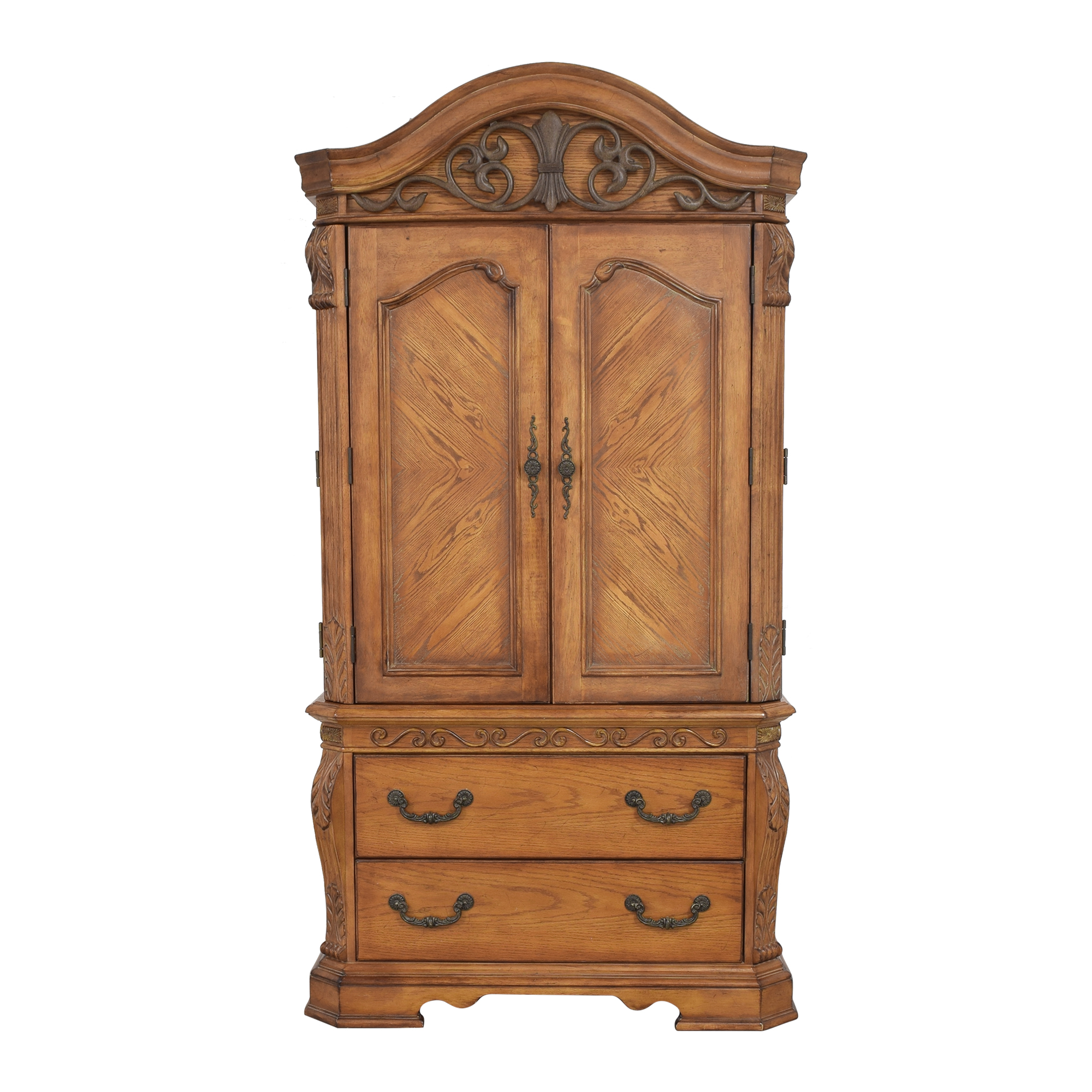 Two Drawer Media Armoire sale