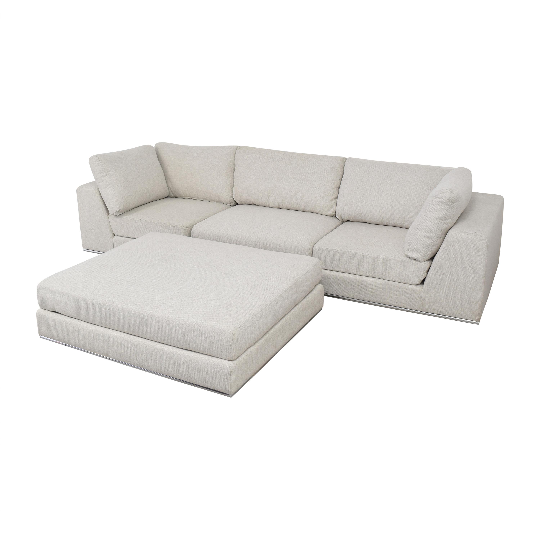 Modloft Sectional Sofa with Ottoman / Sofas