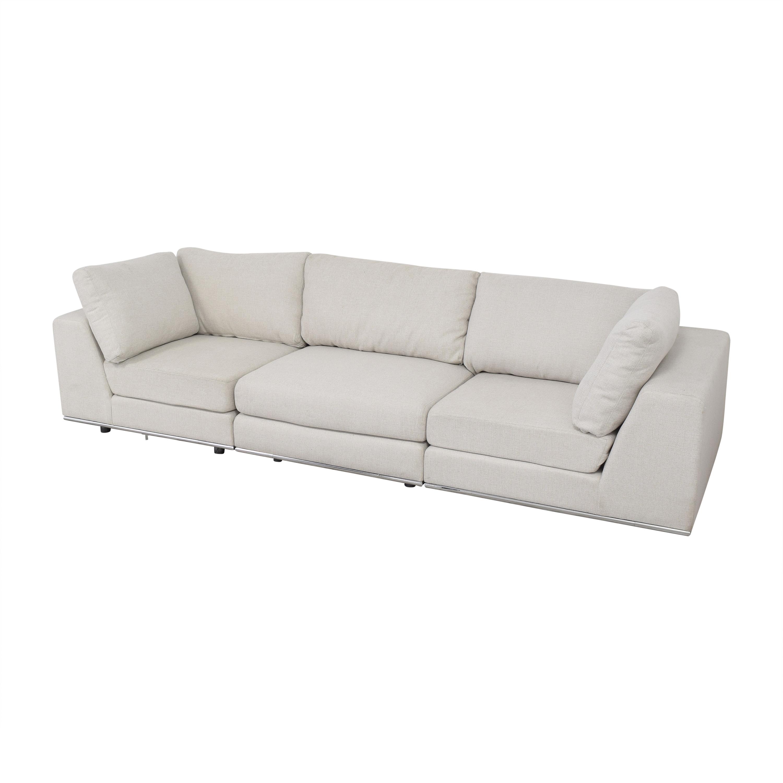 Modloft Sectional Sofa with Ottoman sale
