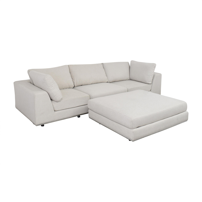 shop Modloft Sectional Sofa with Ottoman Modloft Sectionals
