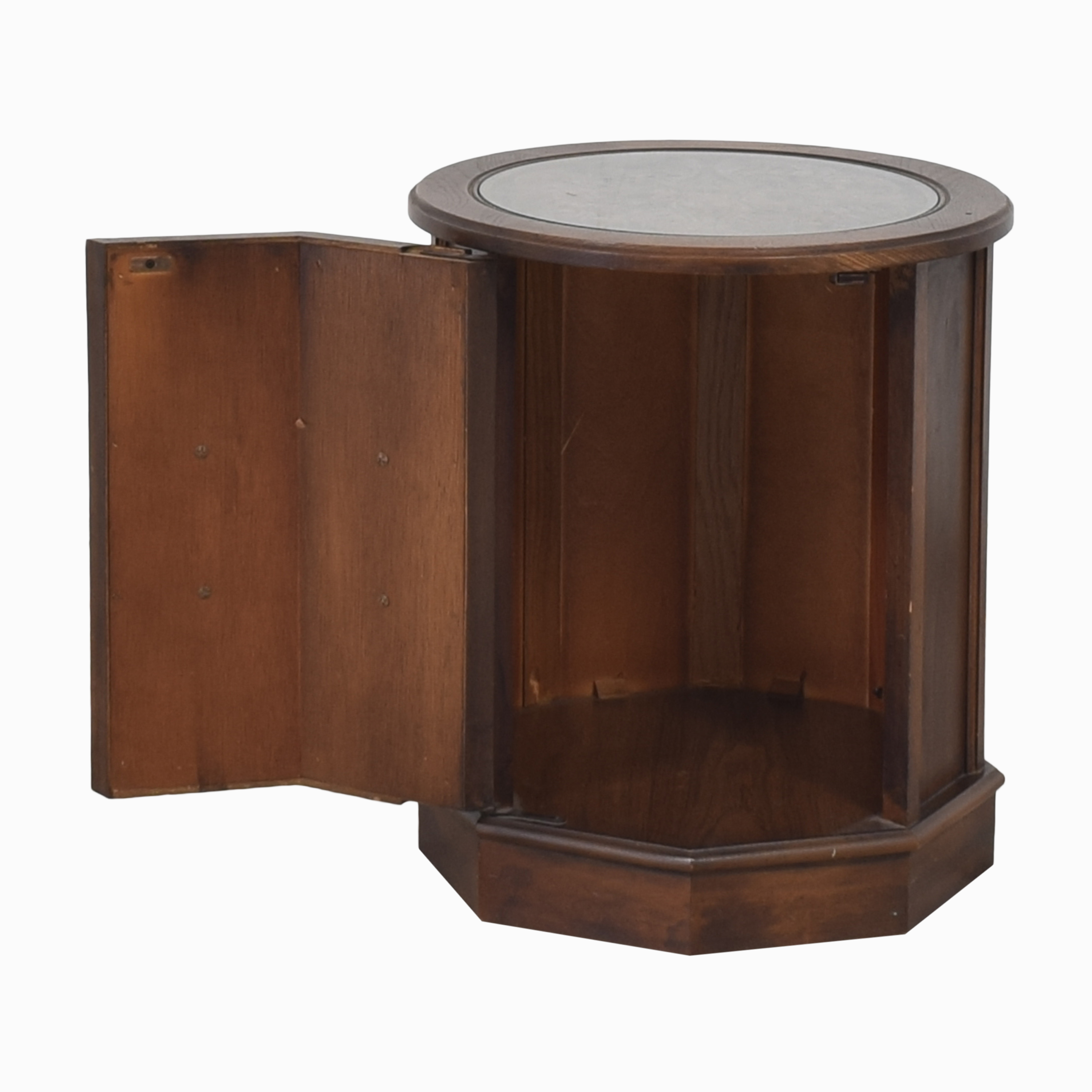 buy Octagonal Side Table with Cabinet