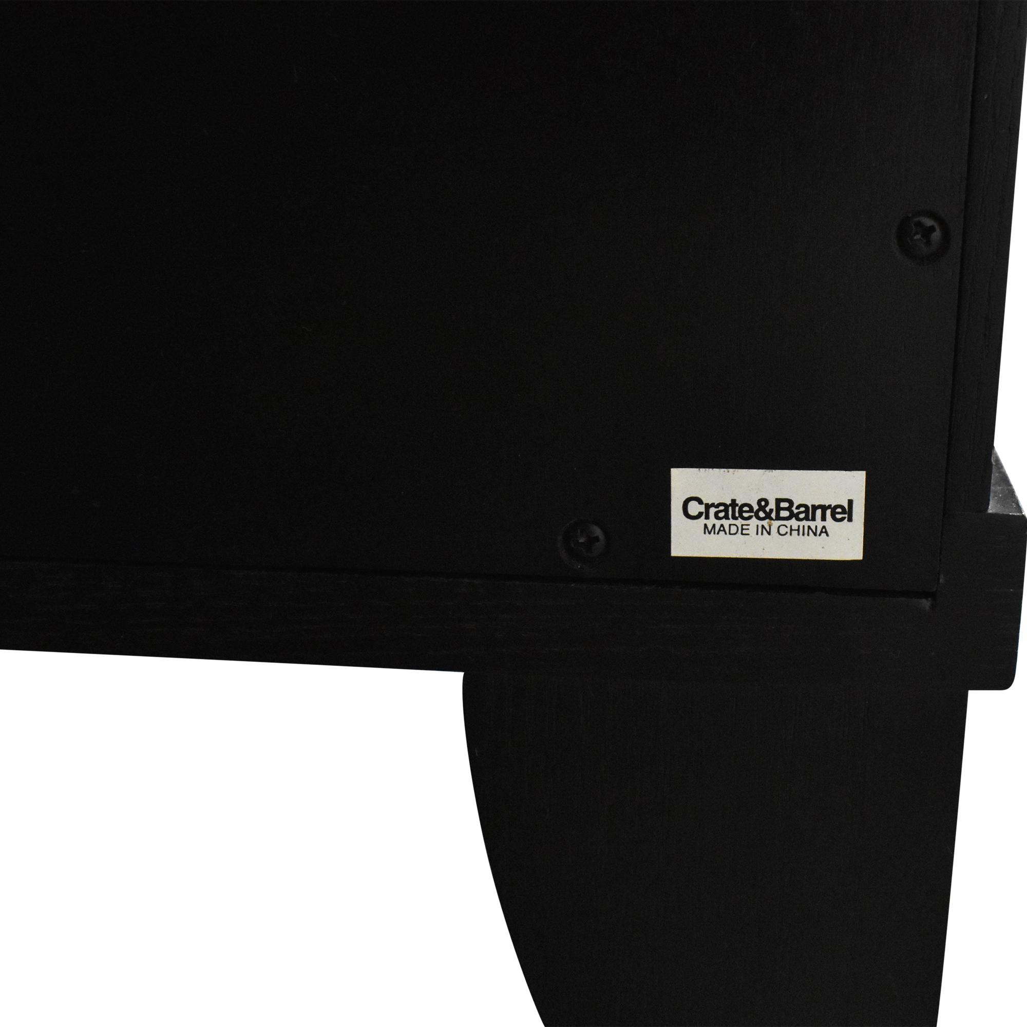 buy Crate & Barrel Portland Sideboard with Wine Grid Crate & Barrel Cabinets & Sideboards