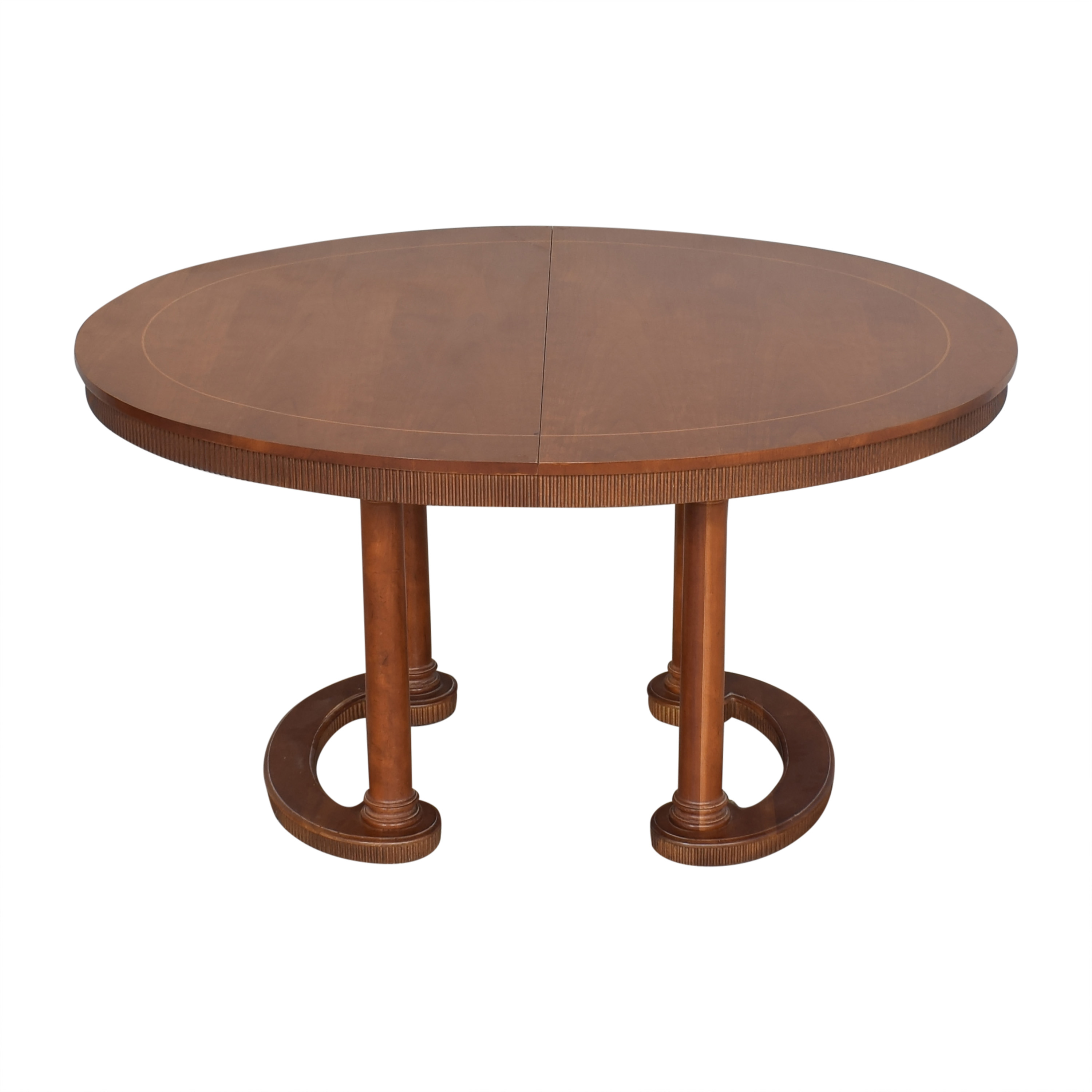 Baker Furniture Baker Furniture Oval Extendable Dining Table dimensions