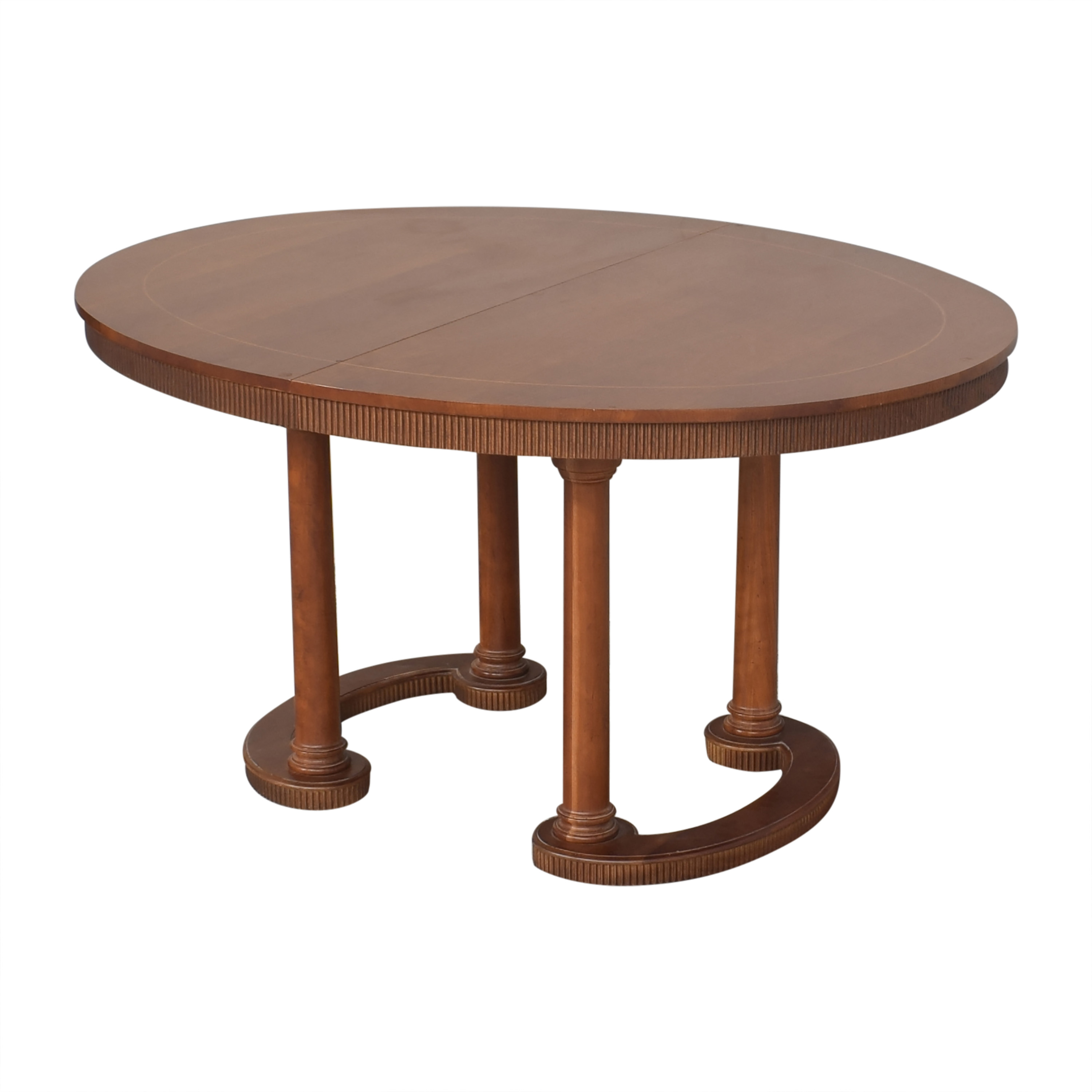 Baker Furniture Baker Furniture Oval Extendable Dining Table second hand