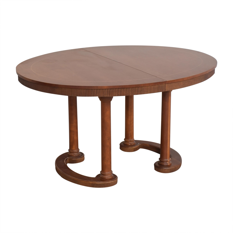Baker Furniture Baker Furniture Oval Extendable Dining Table Tables