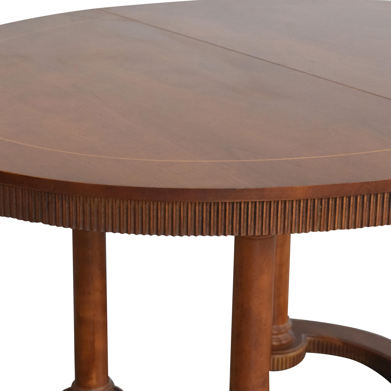 Baker Furniture Baker Furniture Oval Extendable Dining Table for sale