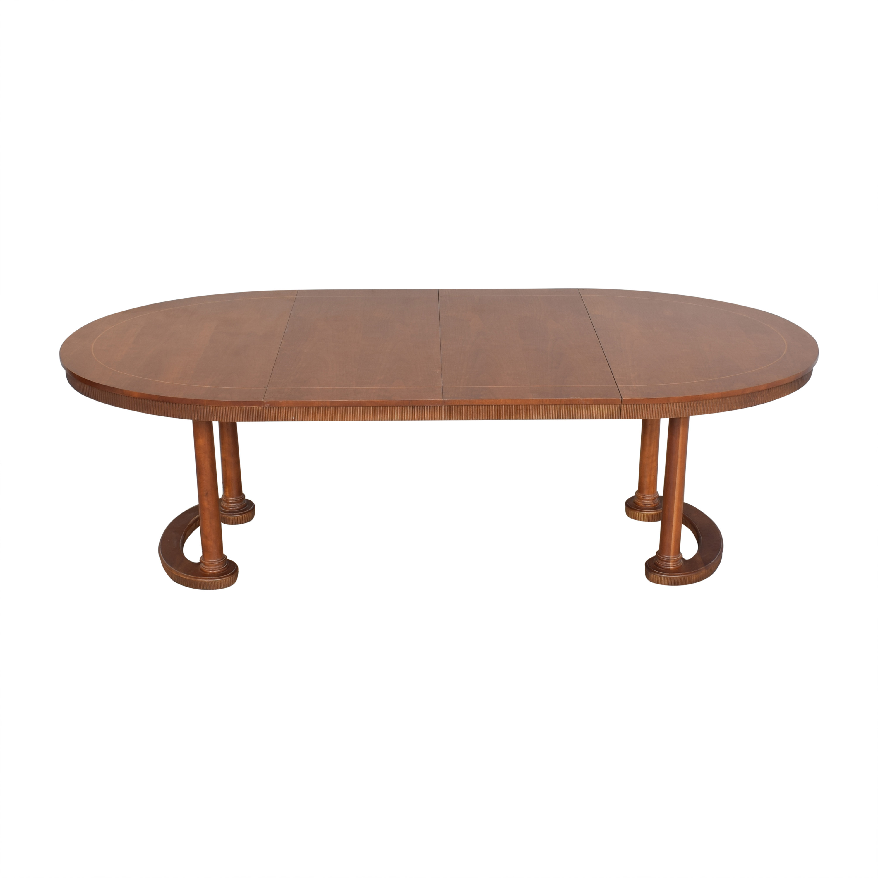 Baker Furniture Baker Furniture Oval Extendable Dining Table nyc