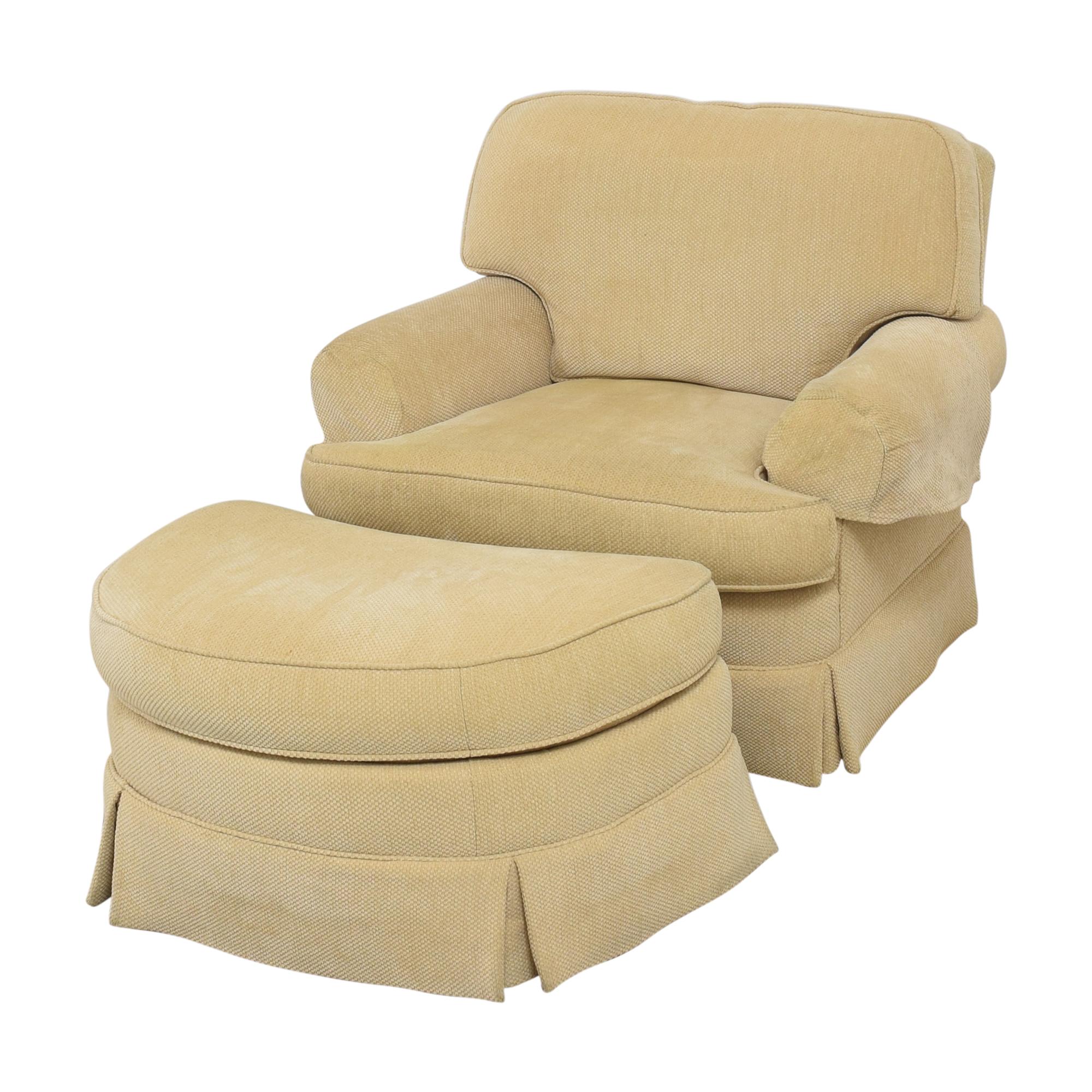 Ralph Lauren Home Ralph Lauren Home Chair with Ottoman on sale