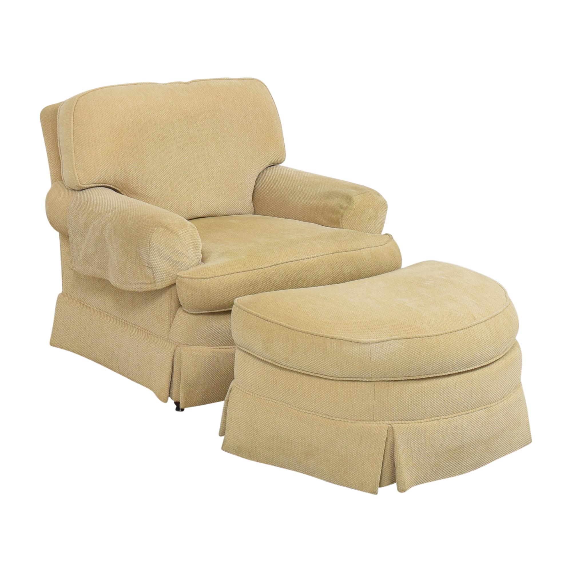 Ralph Lauren Home Ralph Lauren Home Chair with Ottoman dimensions