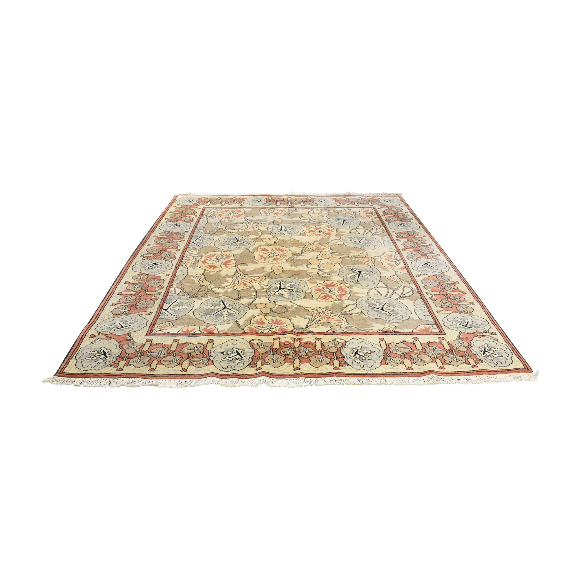 Floral Area Rug used