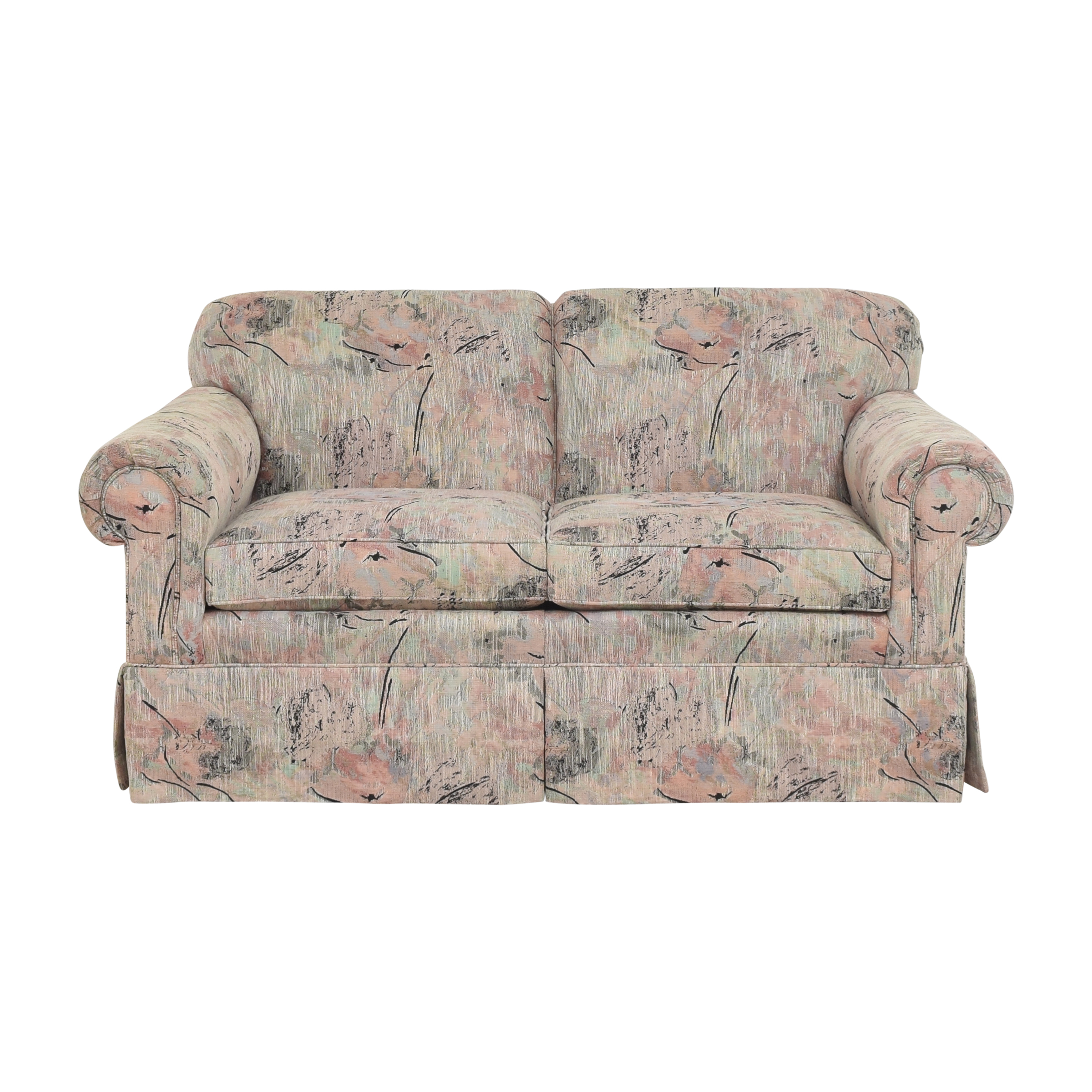 buy Ethan Allen Skirted Roll Arm Loveseat Ethan Allen Loveseats