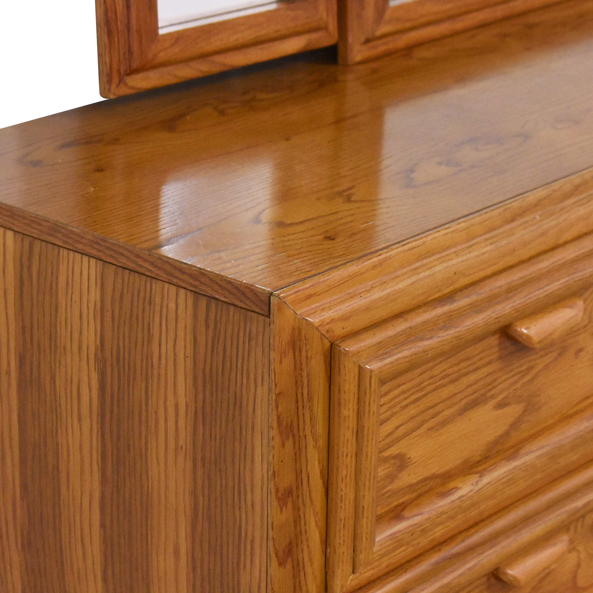 buy Bassett Triple Dresser With Trifold Mirror  Bassett Furniture Dressers