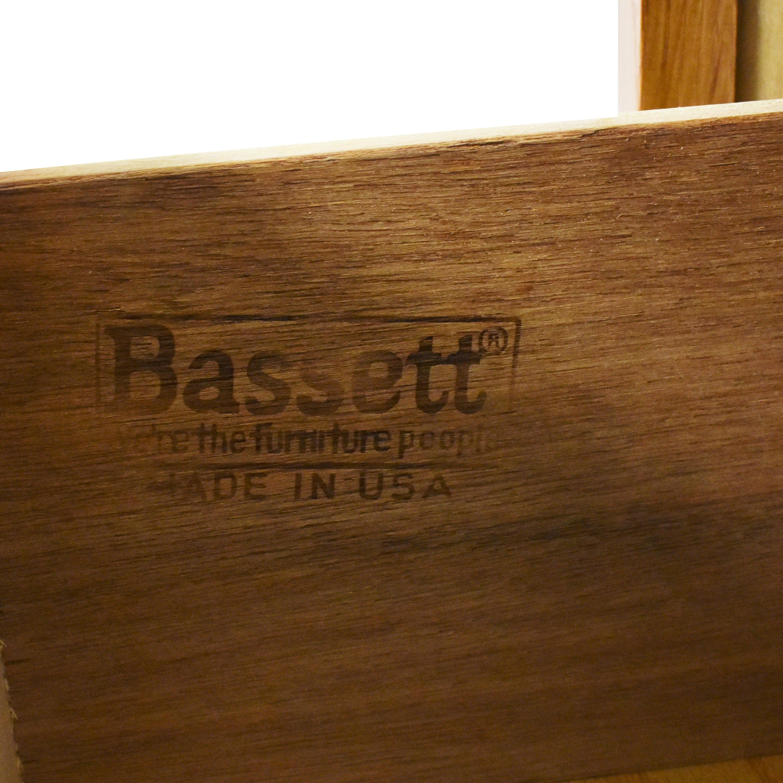 Bassett Furniture Bassett Triple Dresser With Trifold Mirror