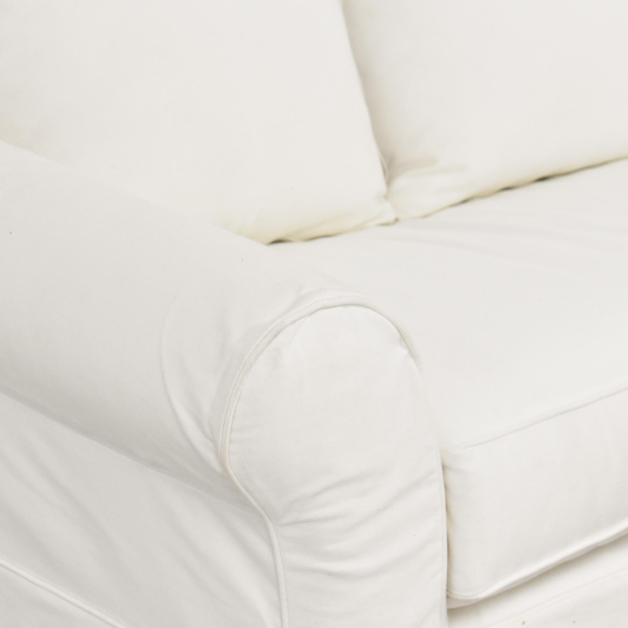 buy Pottery Barn Comfort Roll Arm Twin Sleeper Chair Pottery Barn Sofas
