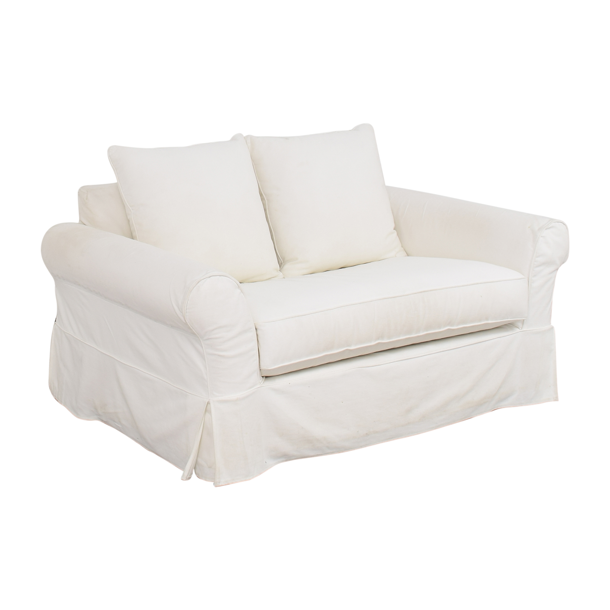 shop Pottery Barn Comfort Roll Arm Twin Sleeper Chair Pottery Barn Sofas