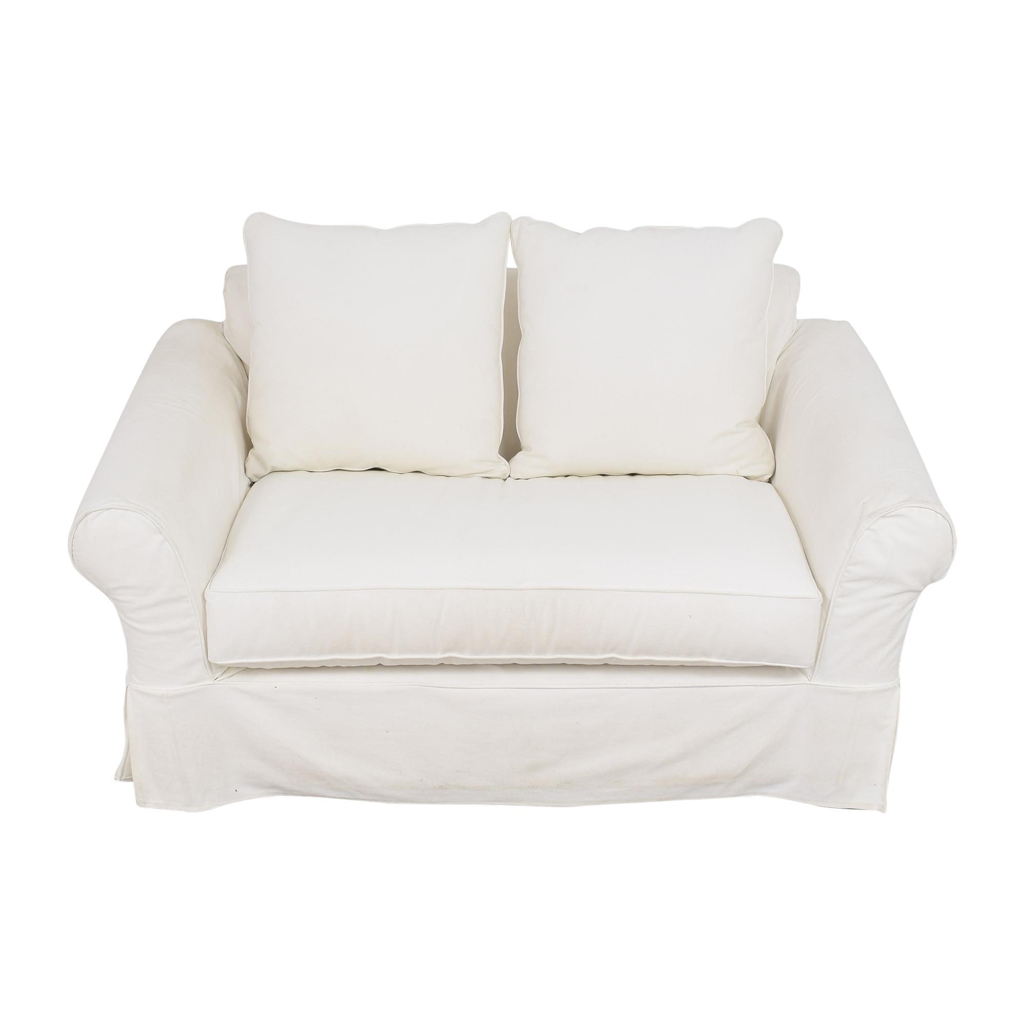 Pottery Barn Pottery Barn Comfort Roll Arm Twin Sleeper Chair discount