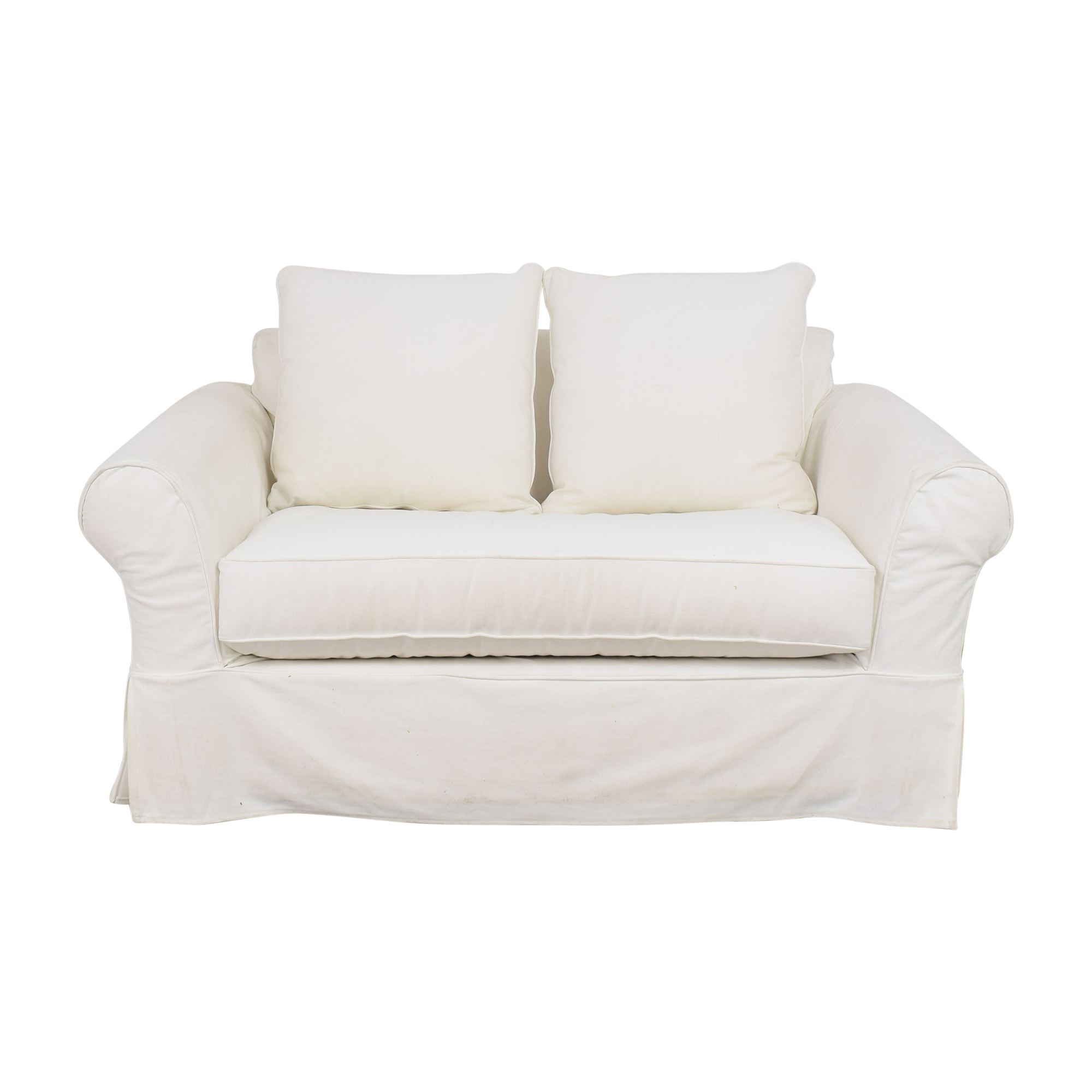 Pottery Barn Comfort Roll Arm Twin Sleeper Chair sale