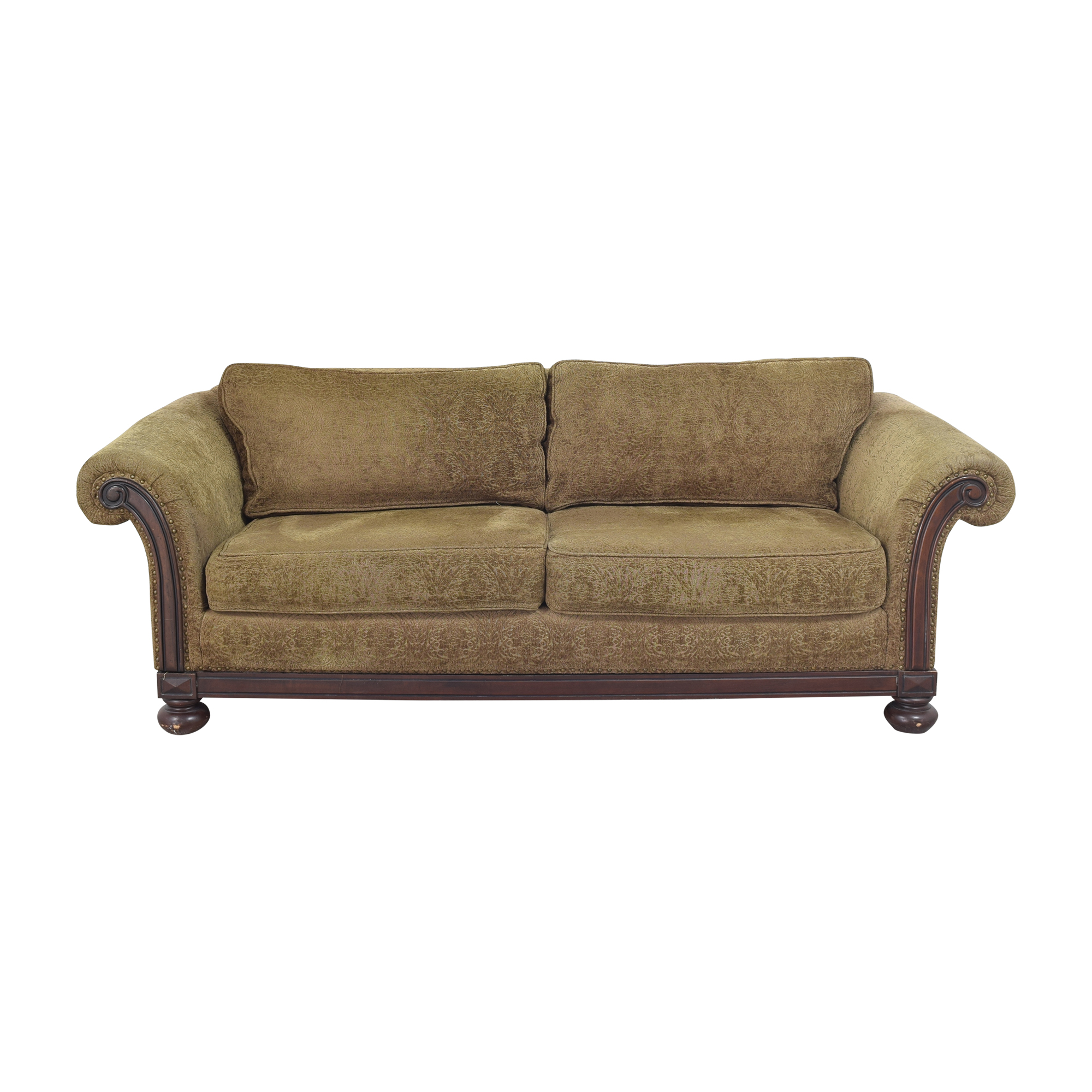 buy Bernhardt Two Cushion Roll Arm Sofa Bernhardt
