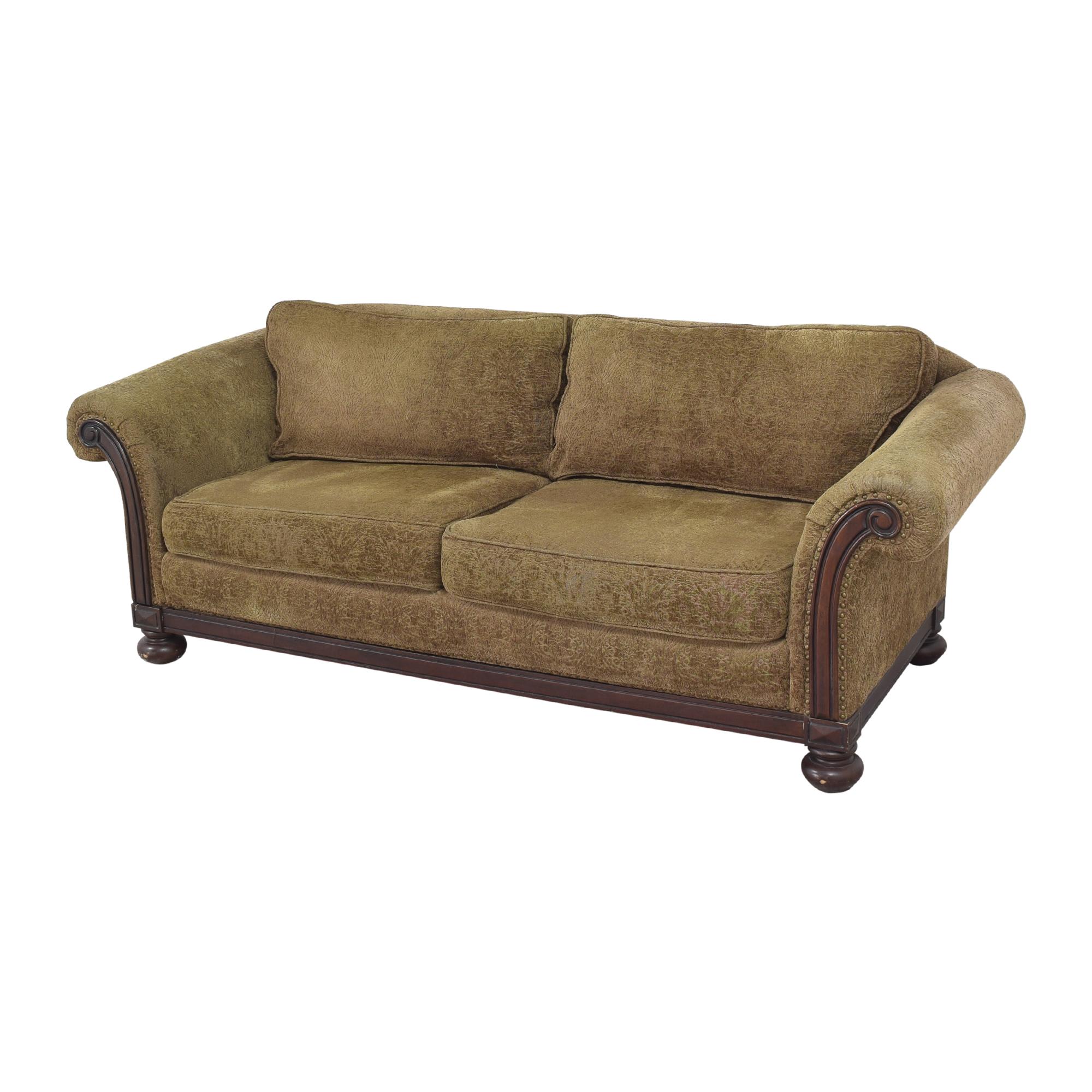 Bernhardt Bernhardt Two Cushion Roll Arm Sofa brown