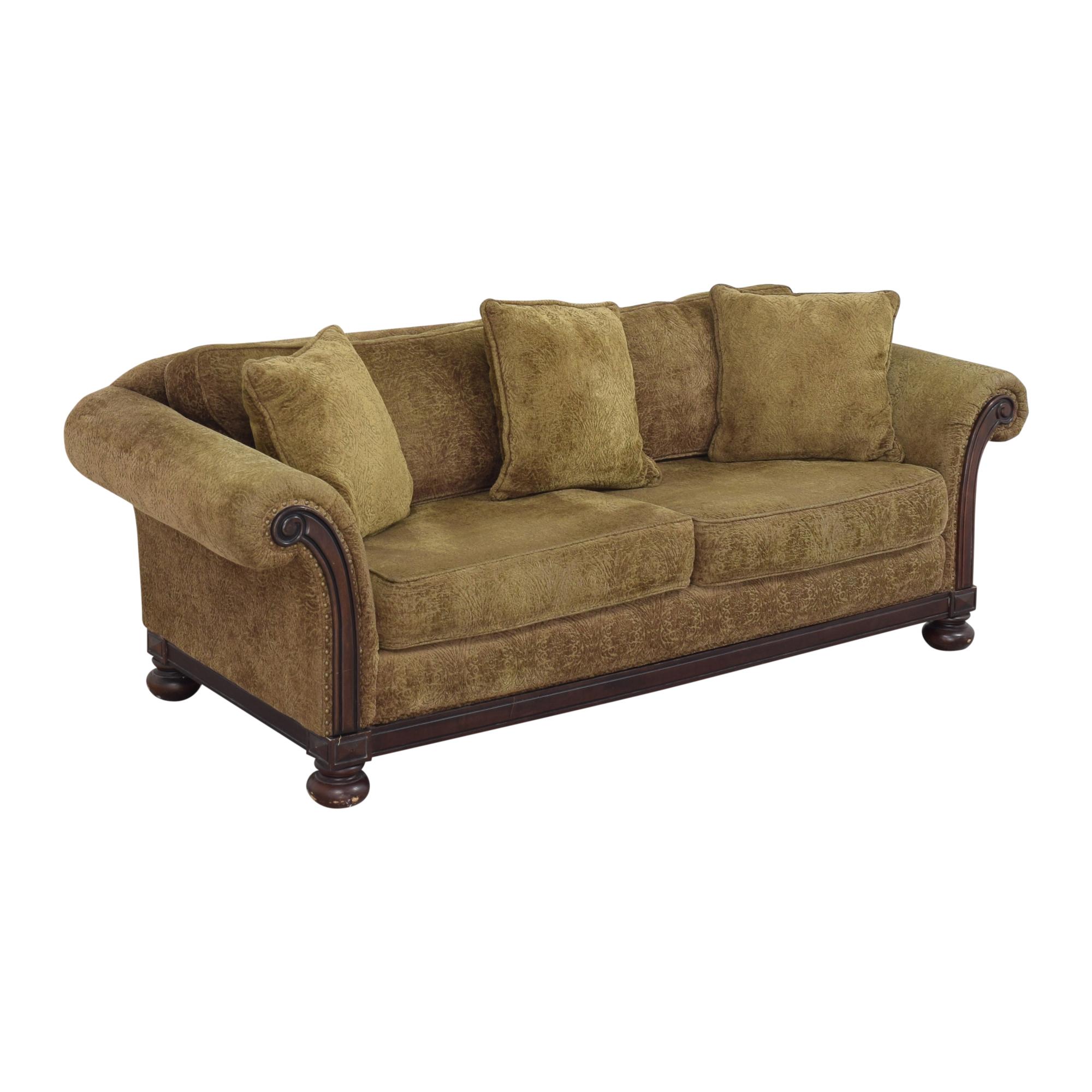 buy Bernhardt Two Cushion Roll Arm Sofa Bernhardt Sofas
