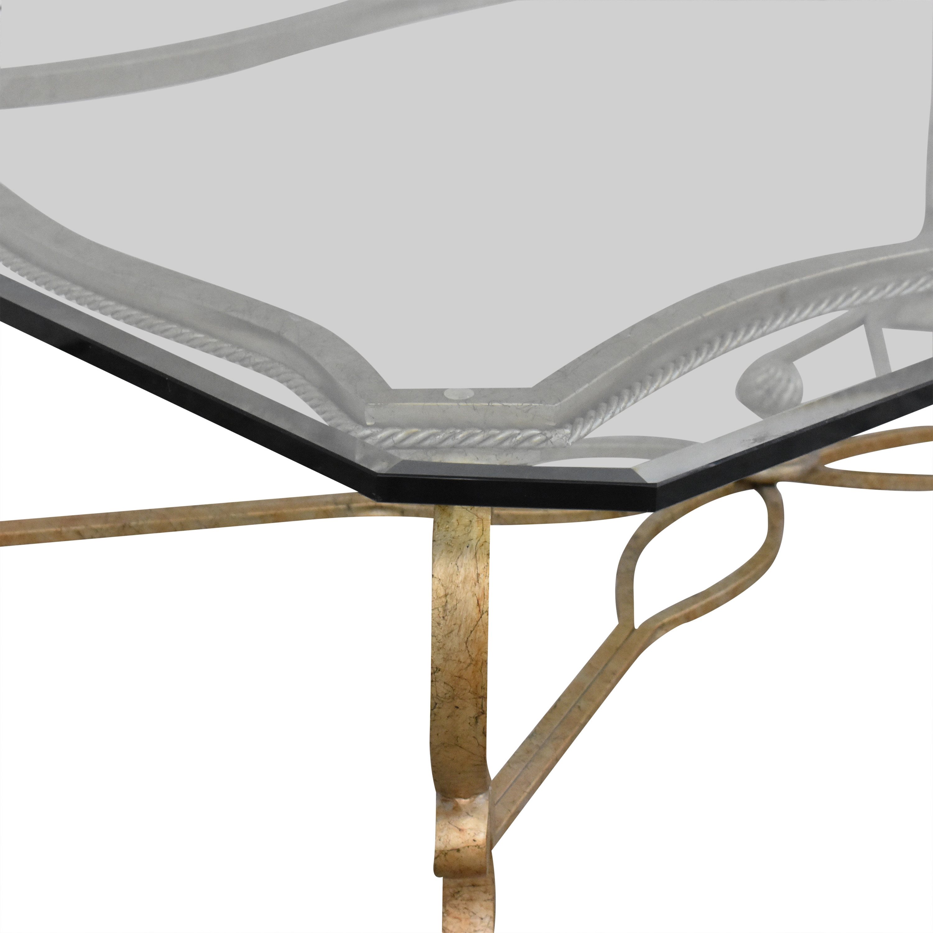 Beveled Rectangular Coffee Table second hand