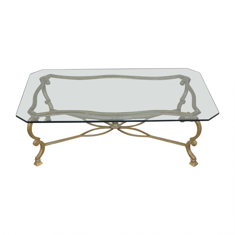buy Beveled Rectangular Coffee Table