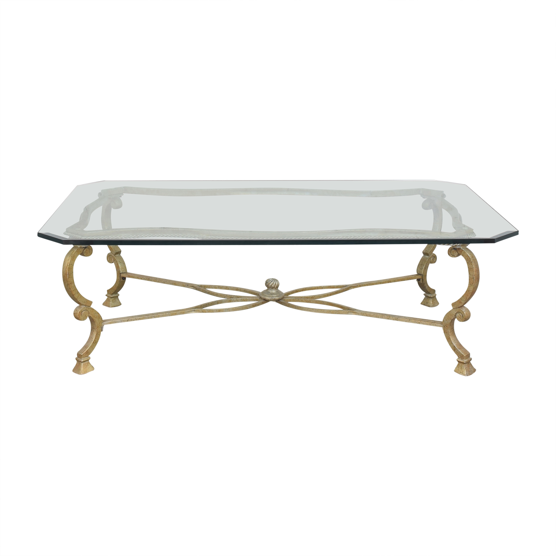 Beveled Rectangular Coffee Table ma