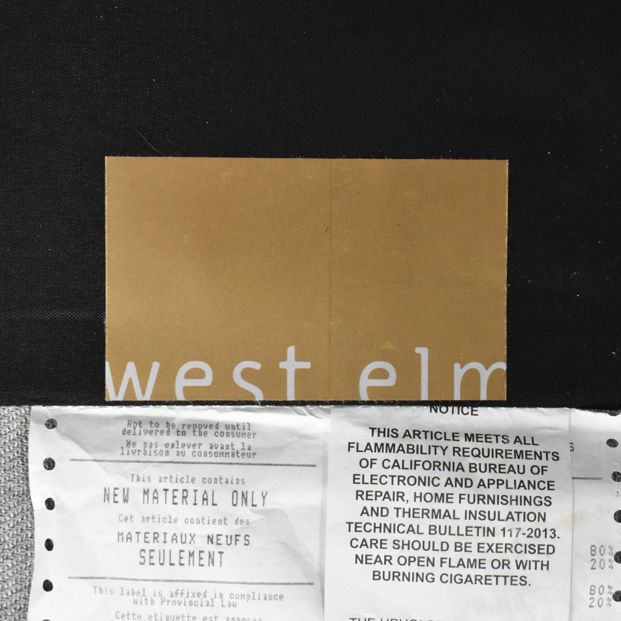 West Elm West Elm Drake Mid Century Sofa light grey