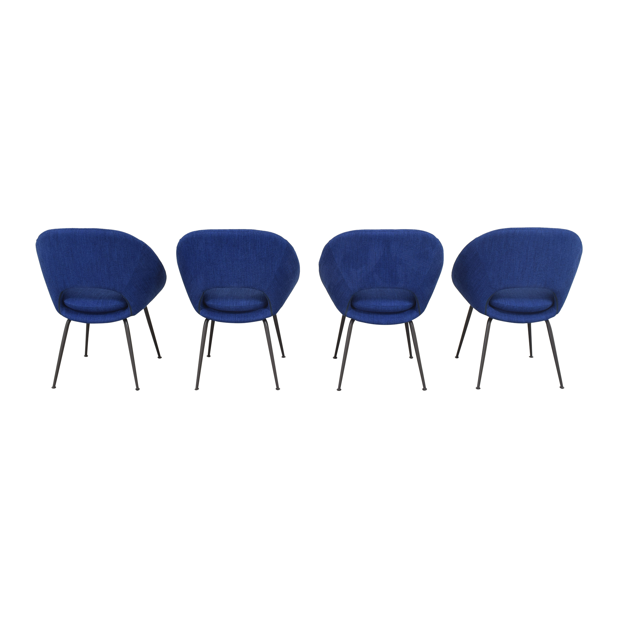 buy West Elm West Elm Orb Upholstered Dining Chairs online