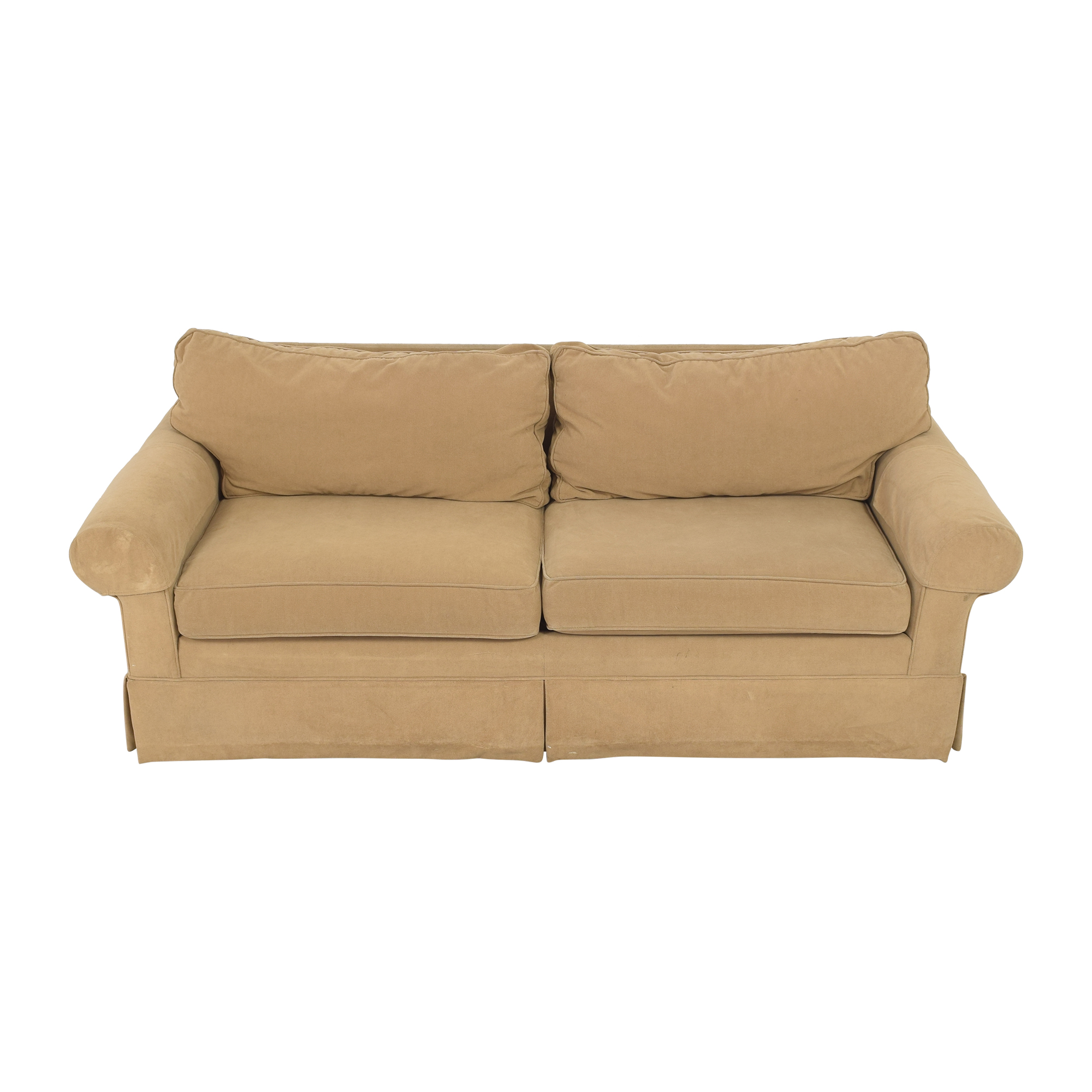 Ethan Allen Ethan Allen Skirted Roll Arm Sofa discount