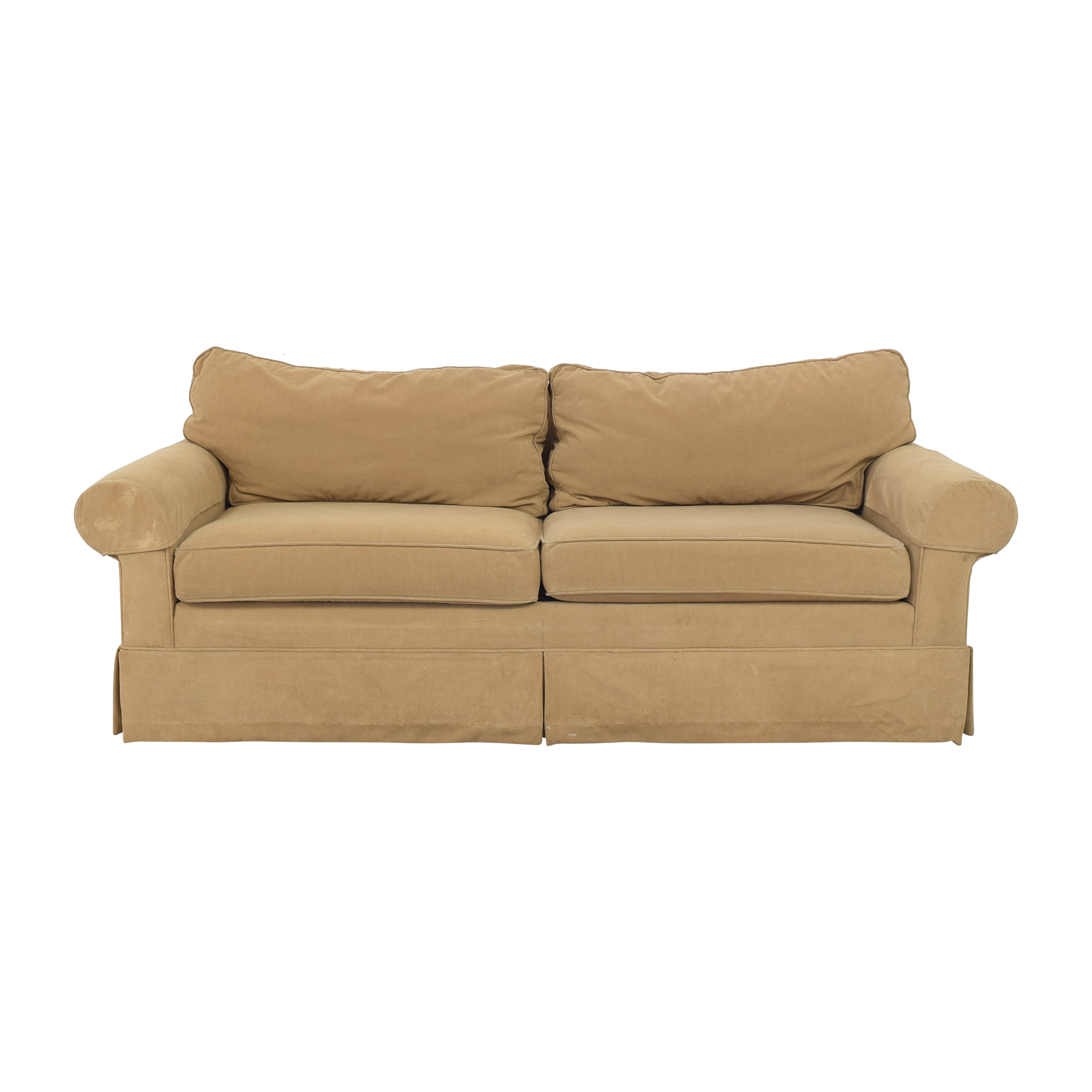 Ethan Allen Ethan Allen Skirted Roll Arm Sofa