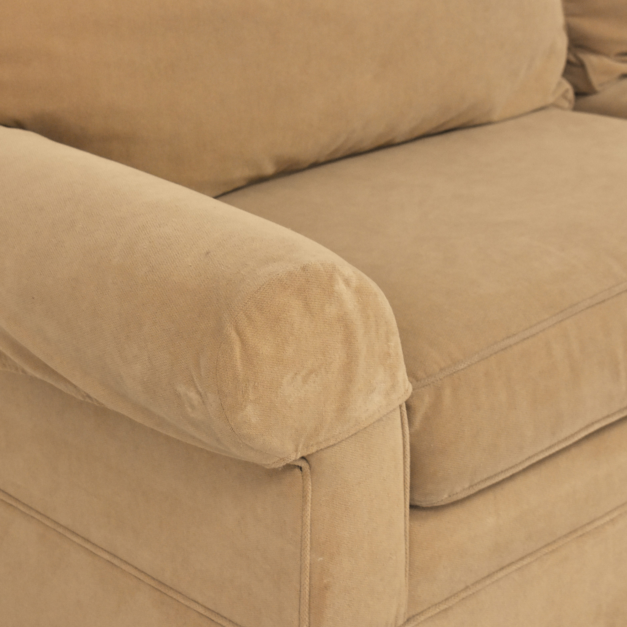 Ethan Allen Ethan Allen Skirted Roll Arm Sofa dimensions