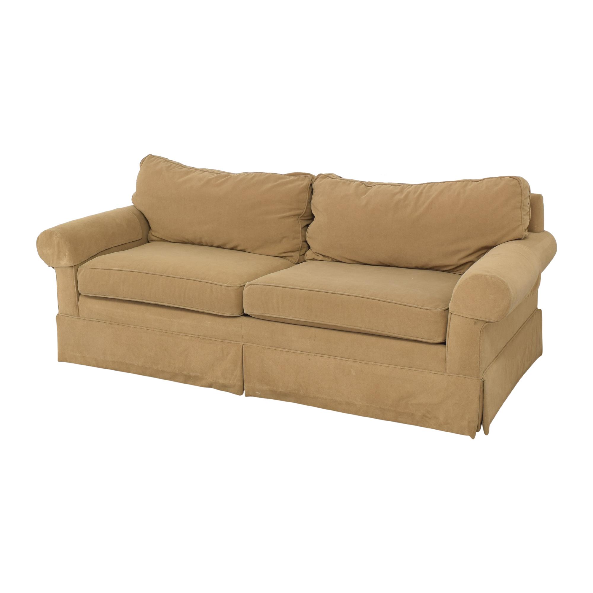 Ethan Allen Ethan Allen Skirted Roll Arm Sofa on sale