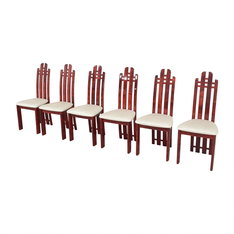 Geomani Modern Geomani High Back Dining Side Chairs ct