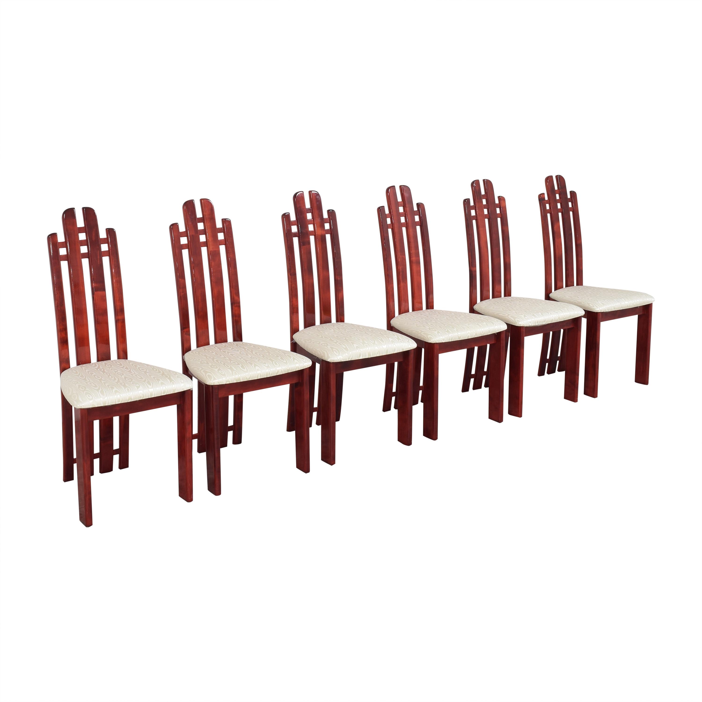 Geomani Modern Geomani High Back Dining Side Chairs nj