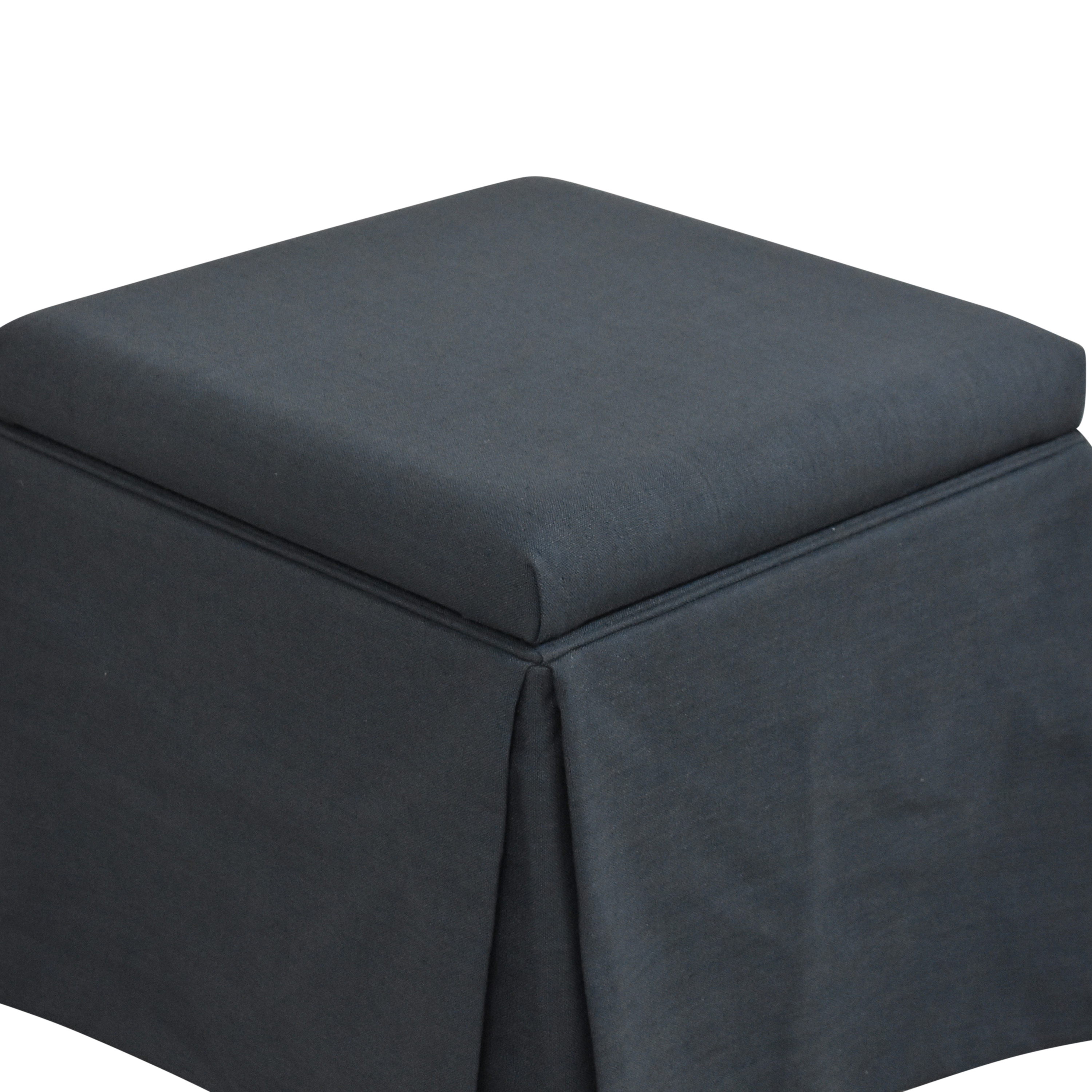 The Inside Skirted Storage Ottoman / Chairs