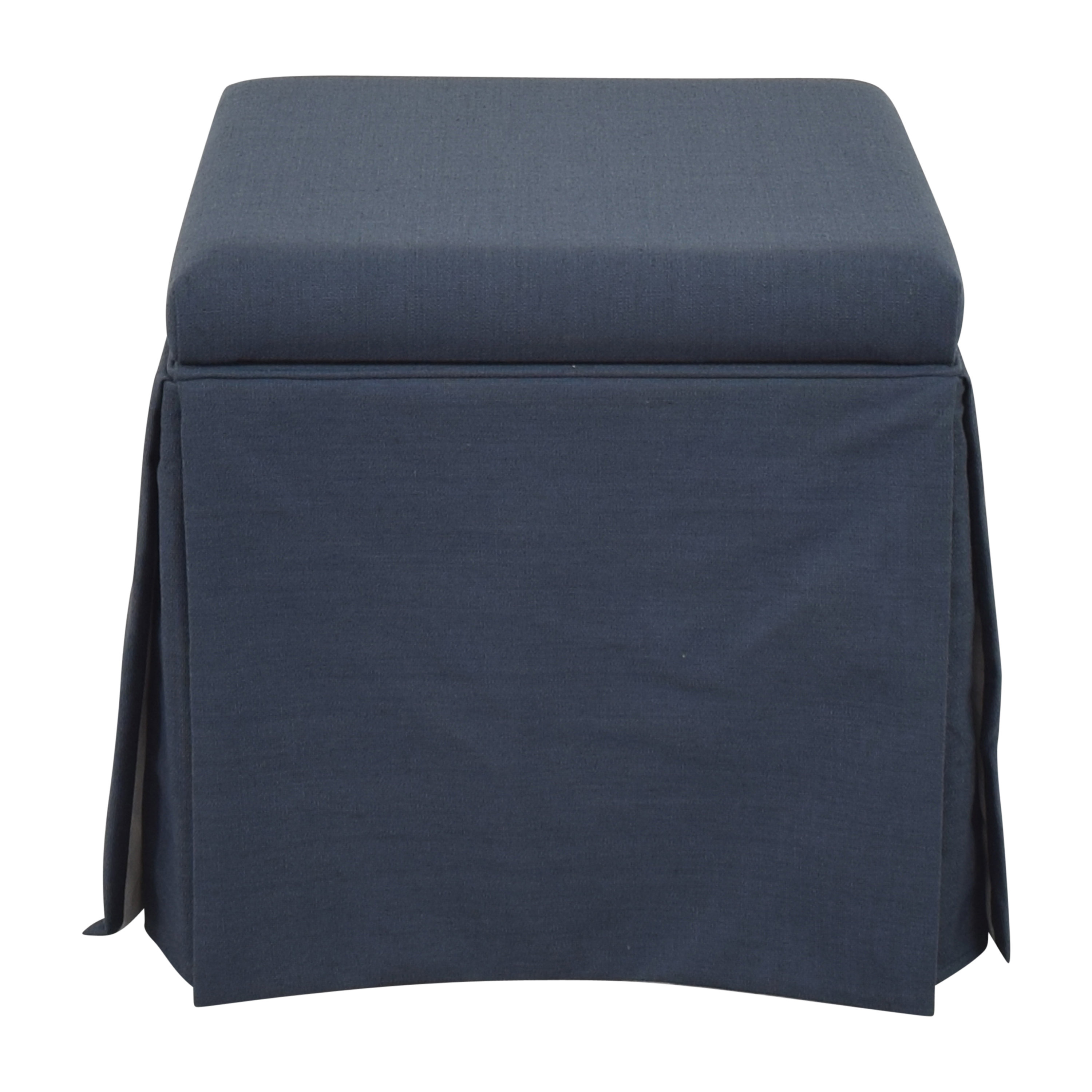 The Inside Skirted Storage Ottoman The Inside