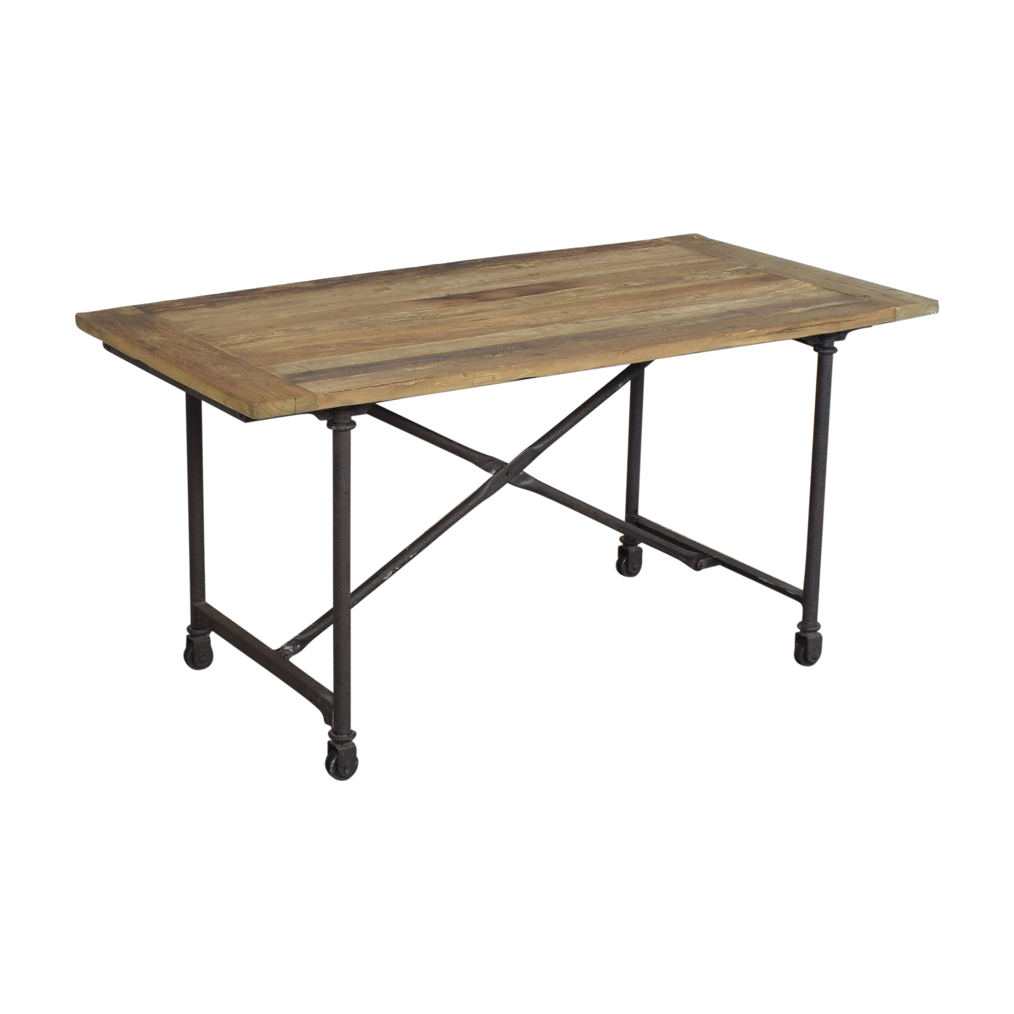 Restoration Hardware Restoration Hardware Flatiron Rectangular Dining Table brown & black
