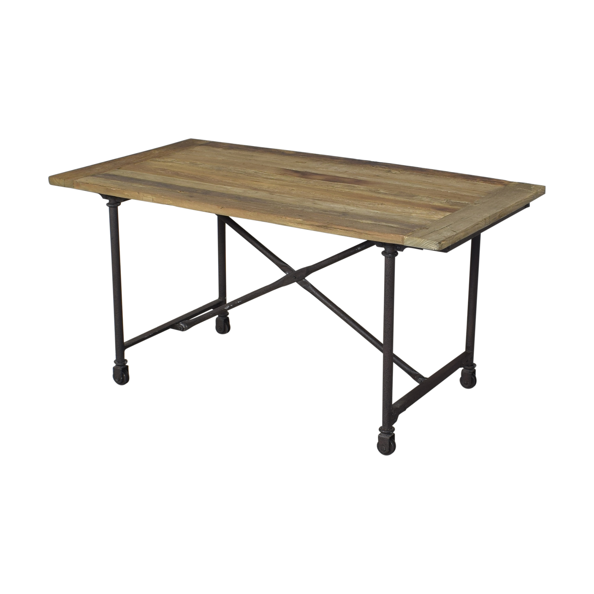 Restoration Hardware Restoration Hardware Flatiron Rectangular Dining Table on sale